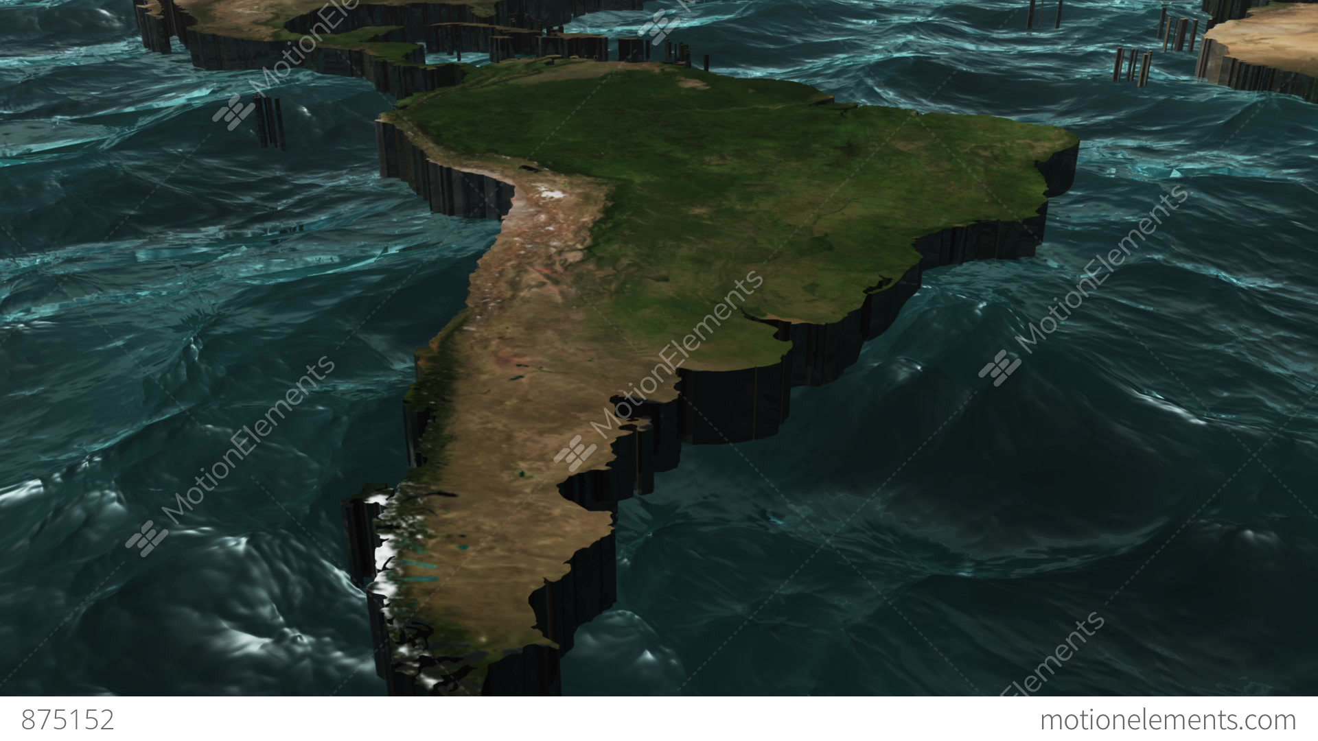 3d world map pan to south america stock animation 875152 3d world map pan to south america stock video footage gumiabroncs Choice Image