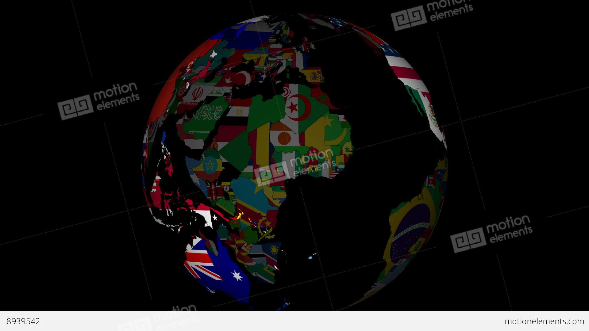 globe with countries and their national flags stock Planet Earth Clip Art Spinning Earth Clip Art