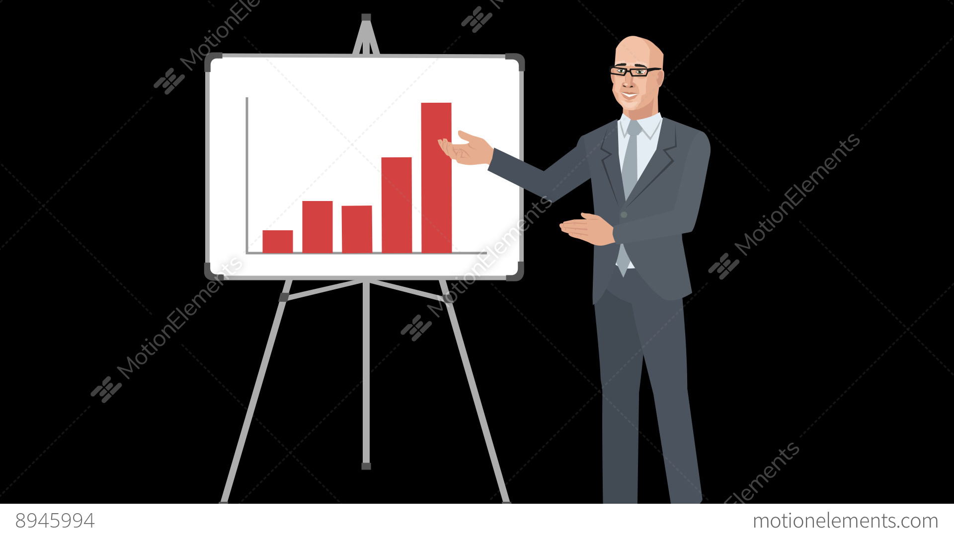 Animated analyst with increasing bar chart stock animation 8945994 animated analyst with increasing bar chart stock video footage ccuart Images