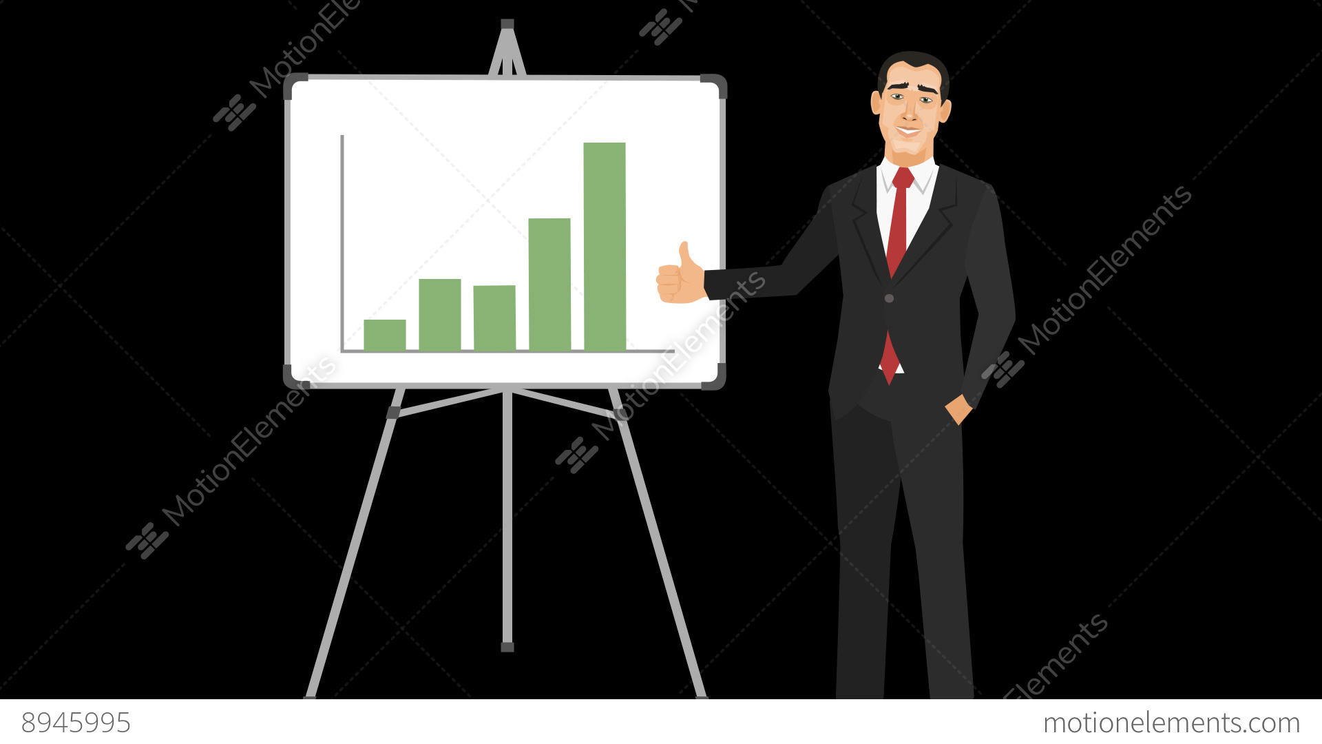 Animated businessman with increasing bar chart stock animation 8945995 animated businessman with increasing bar chart stock video footage ccuart Images