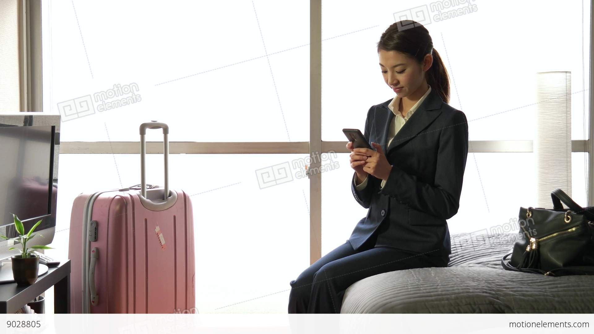 business travel happy asian japanese manager businesswoman