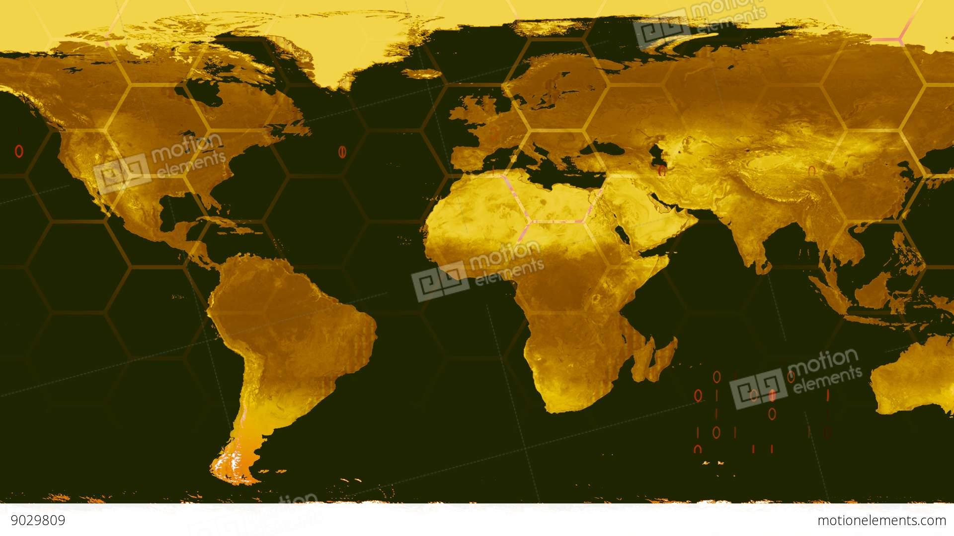 World Map High Tech Digital Satellite Data View War Room K Stock - World map satellite picture