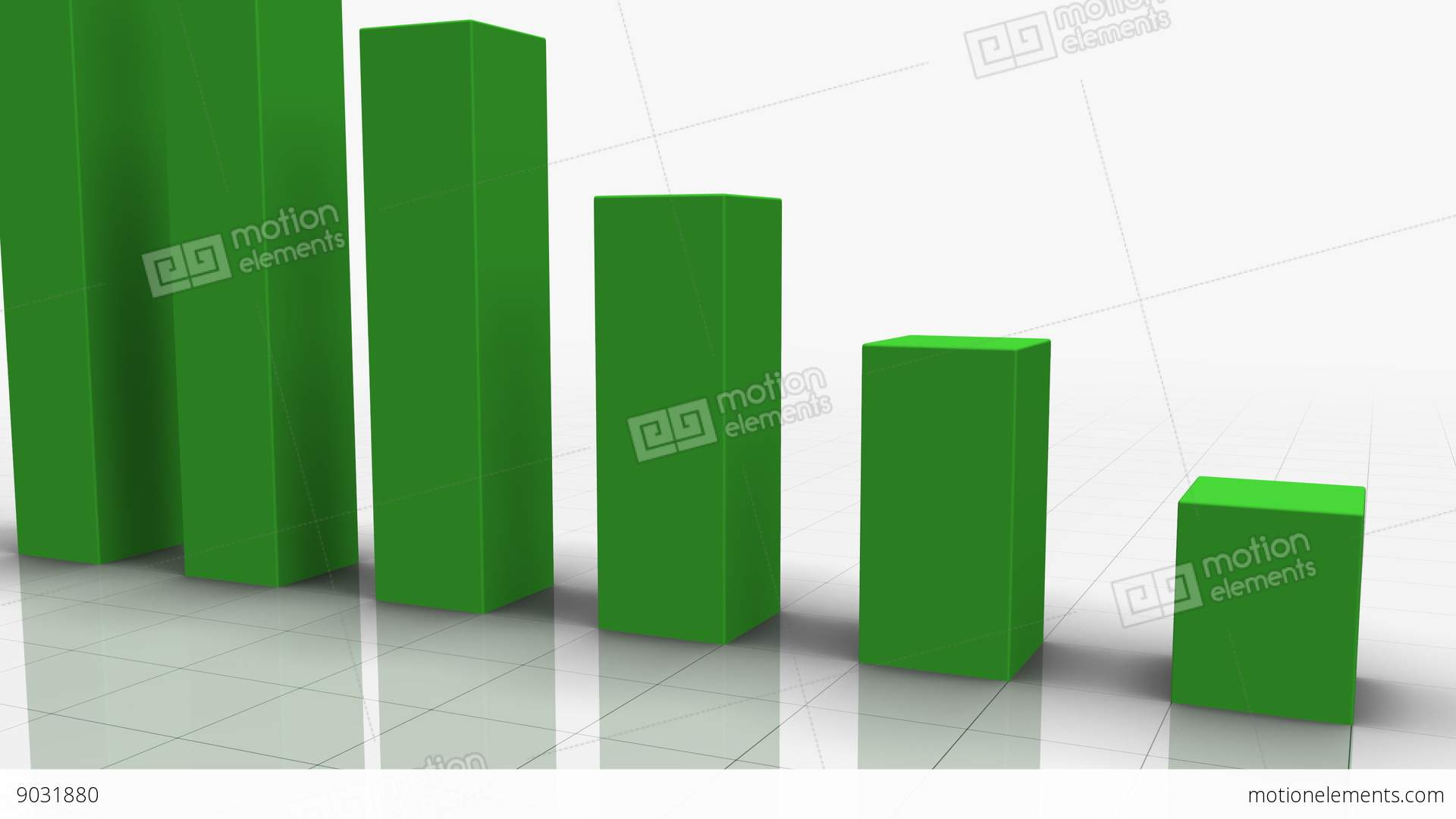 Falling bar graph in green stock animation 9031880 falling bar graph in green stock video footage ccuart Images
