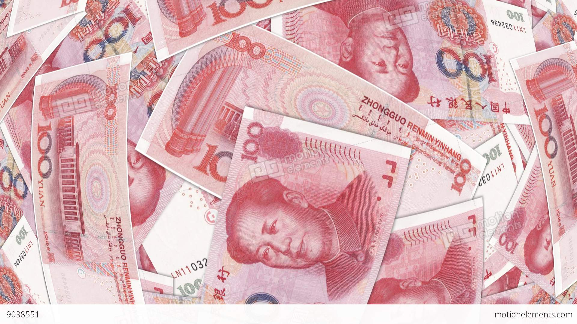 Bank Renminbi Rmb Yuan Chinese Money Banknote Stock Video Footage