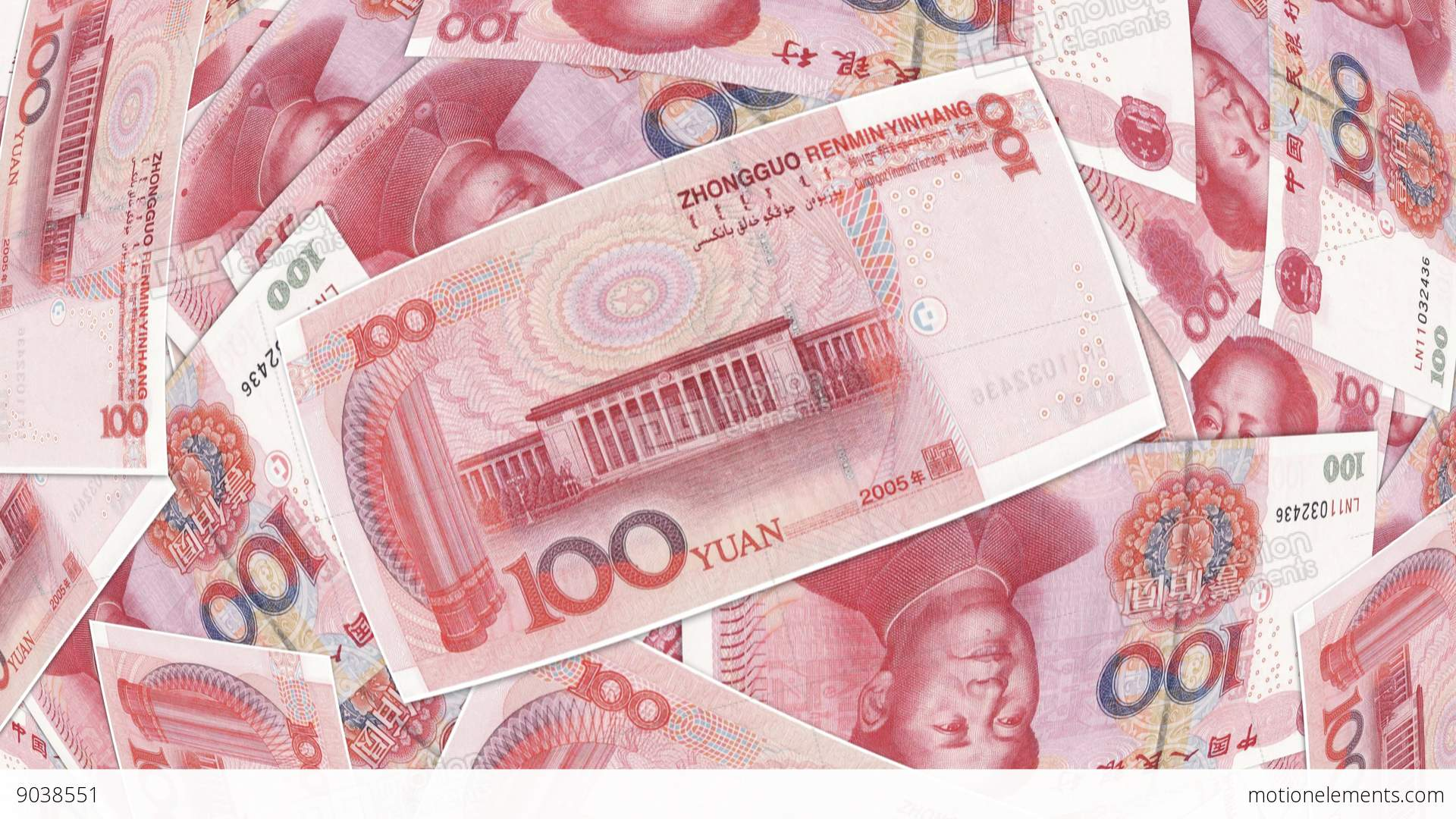Bank Renminbi Rmb Yuan Chinese Money Banknote Stock Video Footage