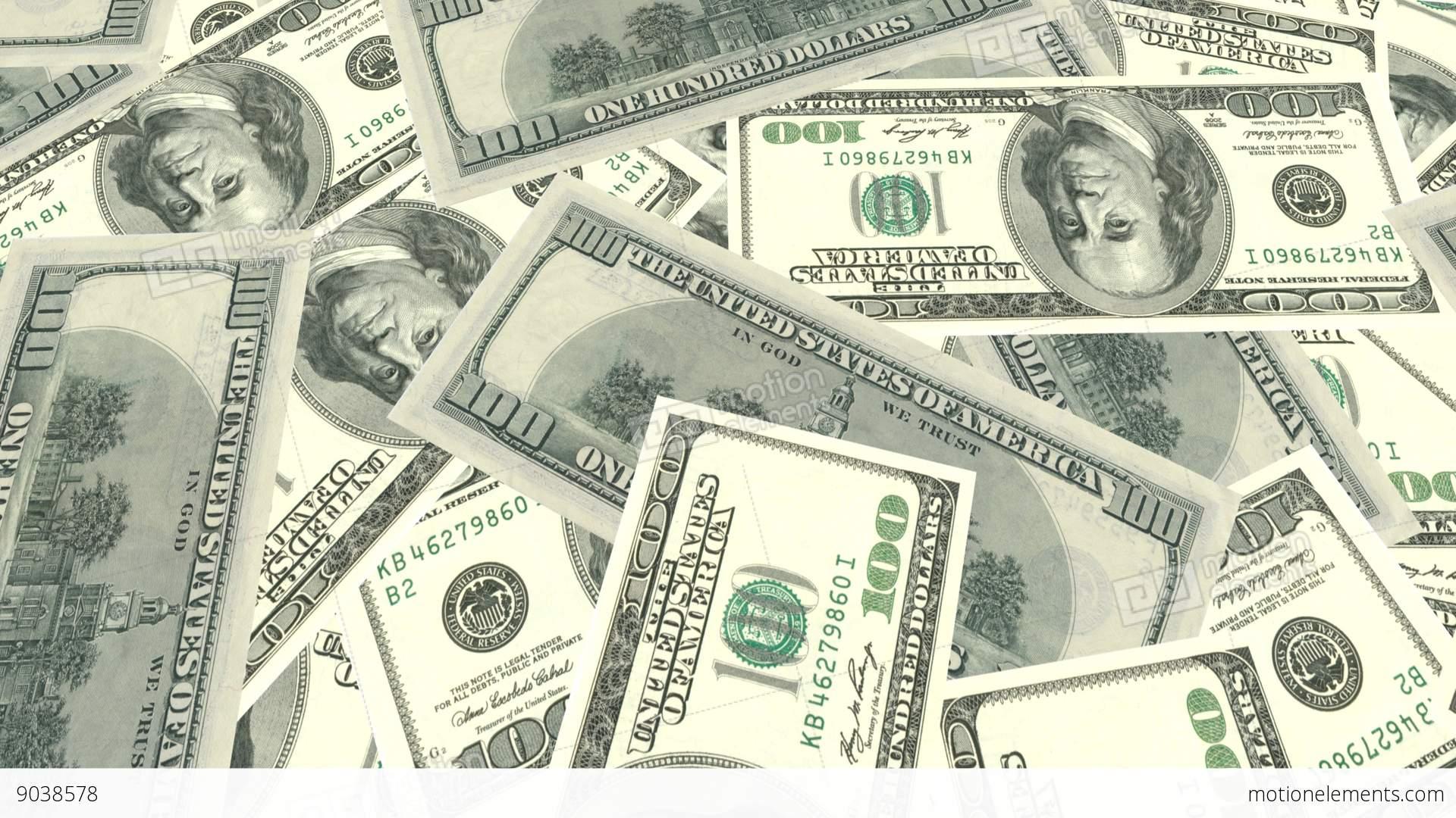 Bank Banking Us Dollar Bill Banknote Green Money Cash Stock Video Footage