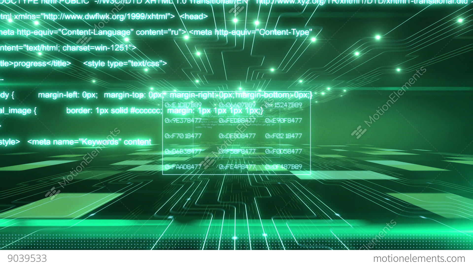 Background image xhtml - Green Digital Background Hd 1080