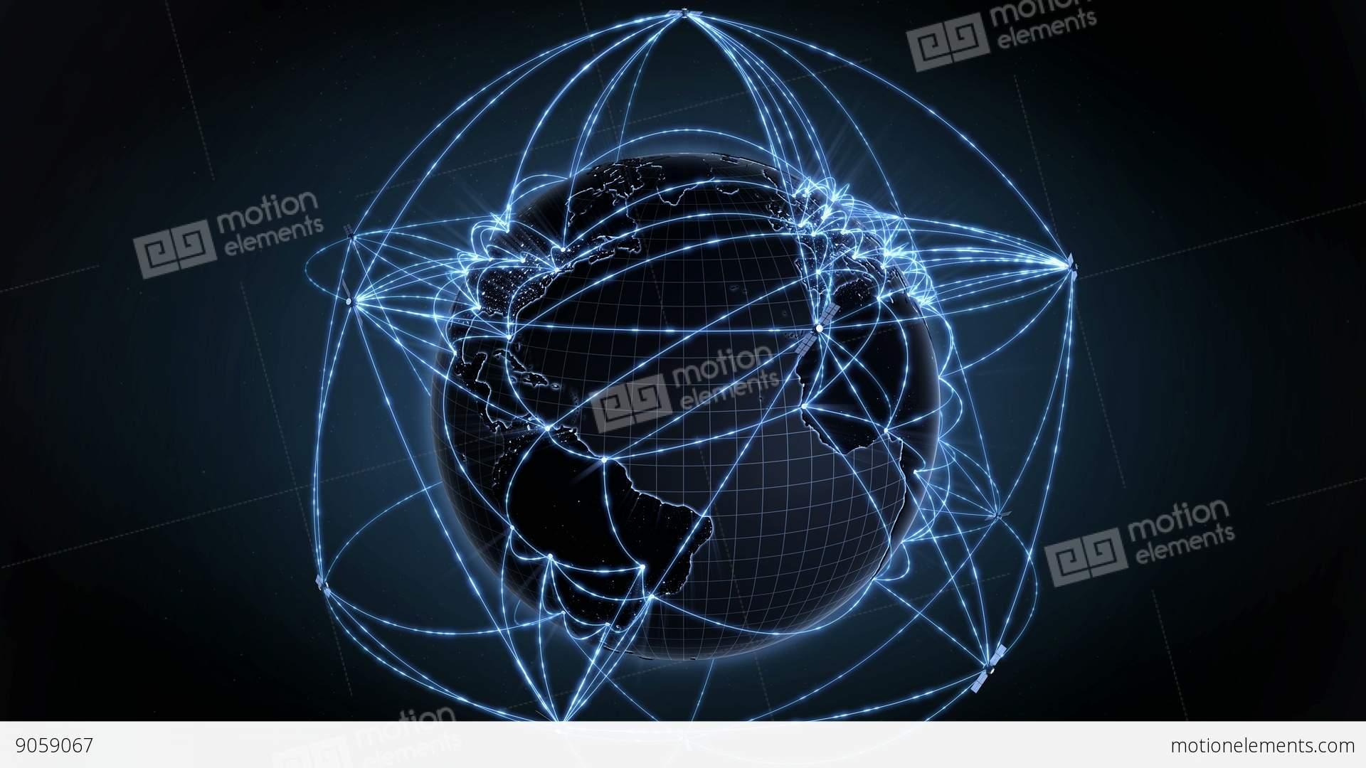 Global Communication Data Flow Internet Concept Loops