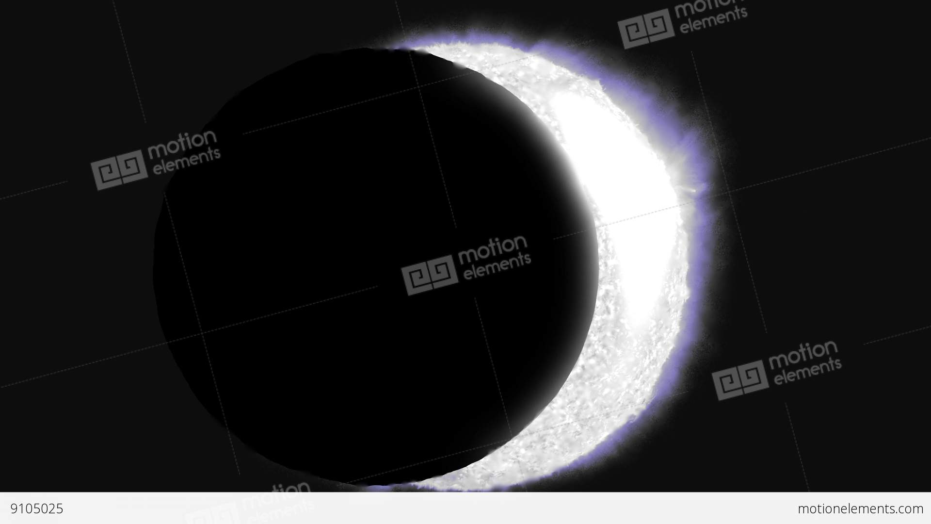 Solar Eclipse Sun Moon Planet Earth Space Cosmic System 4k ...