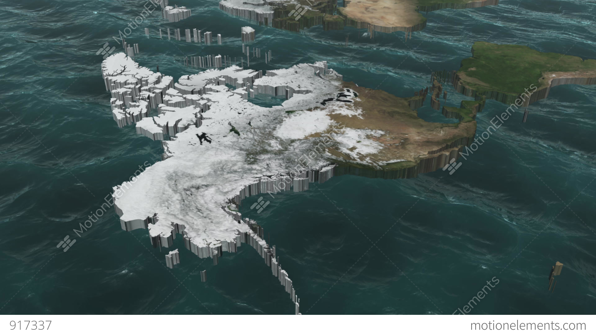 Rotate A 3D USA And Canada Map With Sea Animation – Usa Canada Map 2