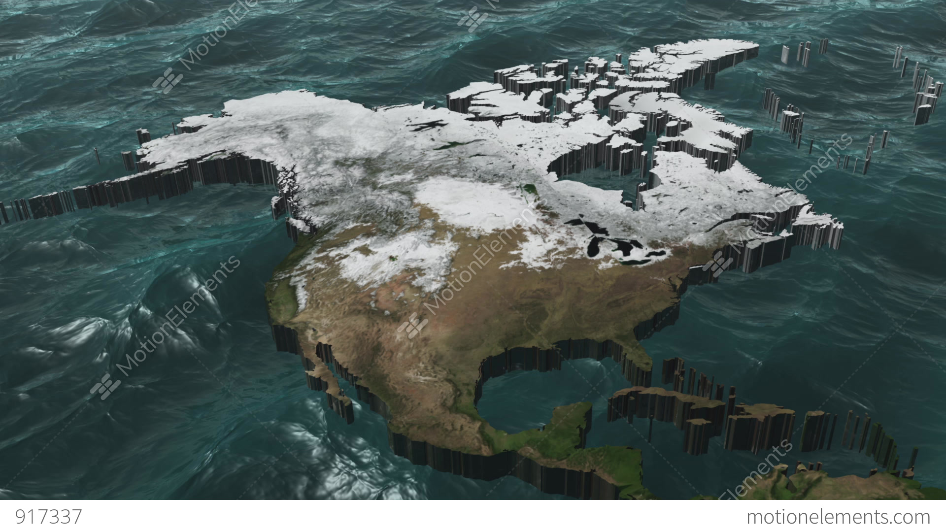 Rotate A D USA And Canada Map With Sea Stock Animation Royalty - Free map of usa and canada