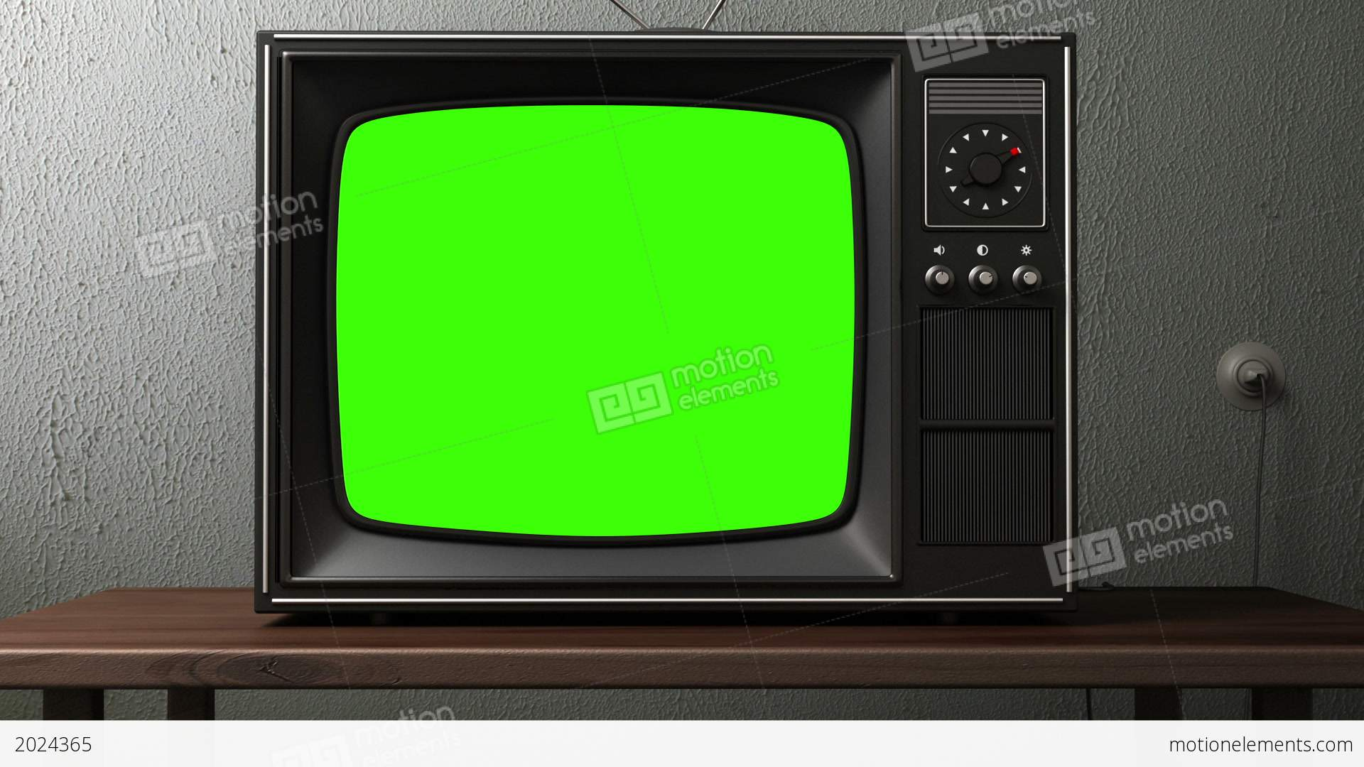 old tv  switching channels stock animation