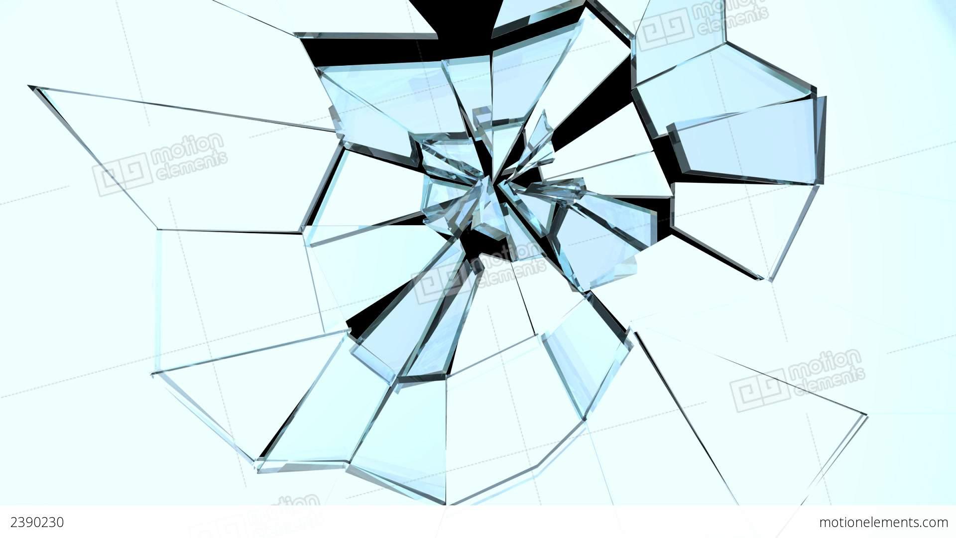 3d Design House Glass Break 02 Stock Animation 2390230