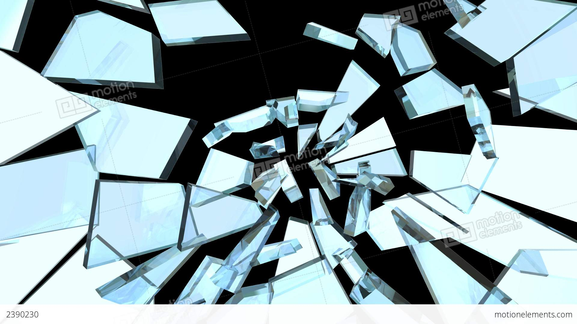 House Design Free Glass Break 02 Stock Animation 2390230