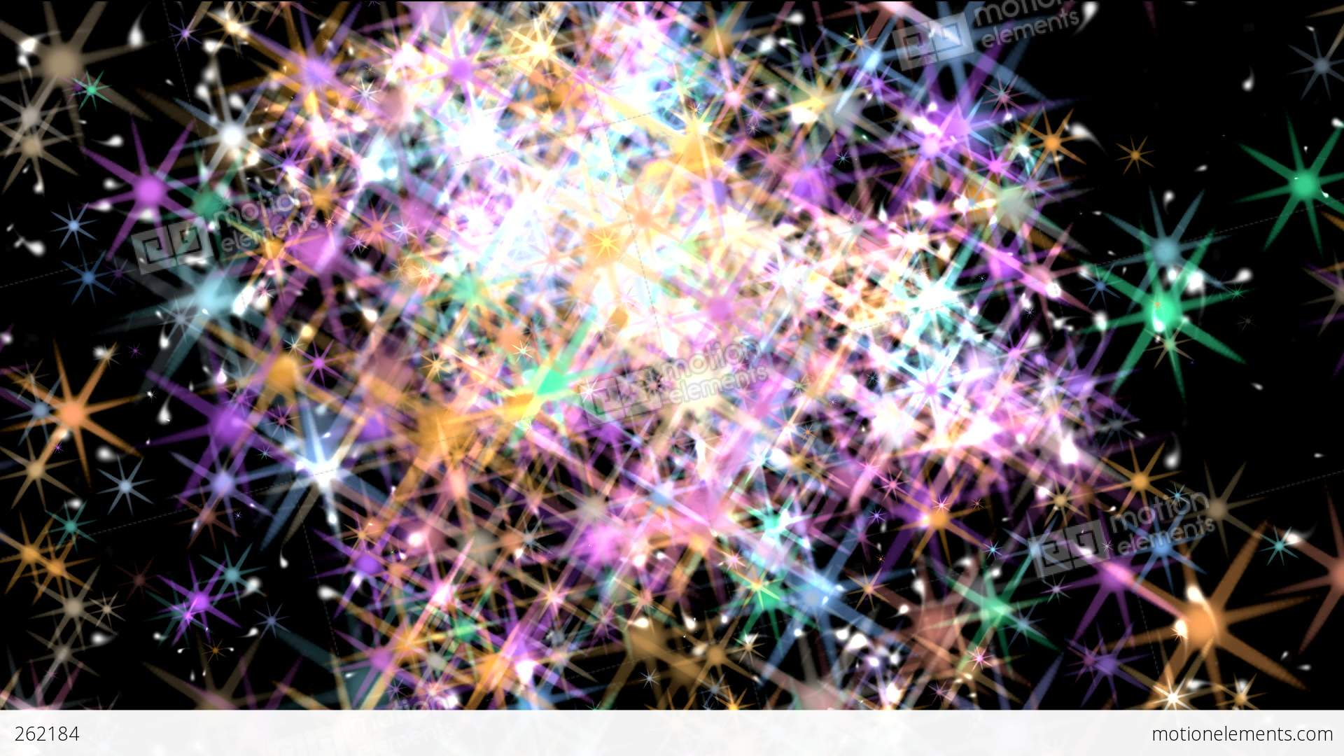 Dazzling Sparkles Stock Animation  262184
