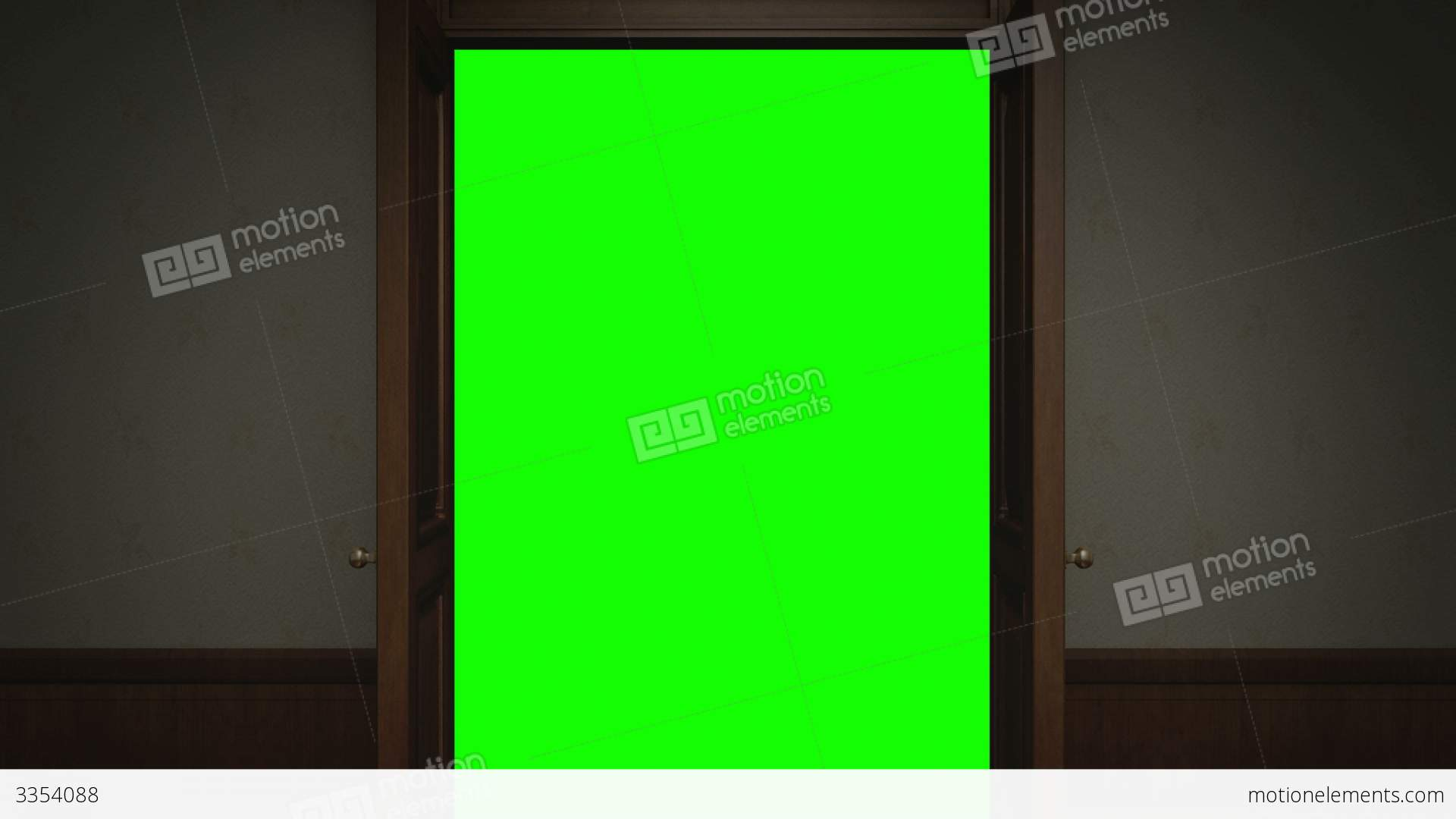 Door opening with chroma key stock animation 3354088 for Door opening sound effect