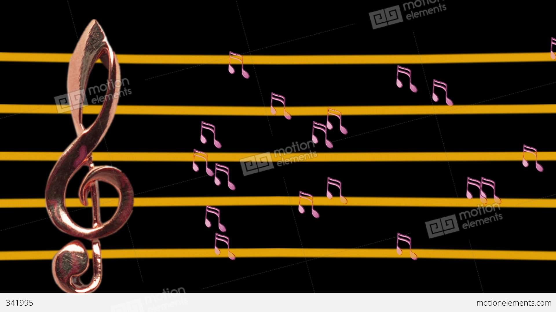 Treble Clef And Musical Notes Moving - Low-tempo - Music ...