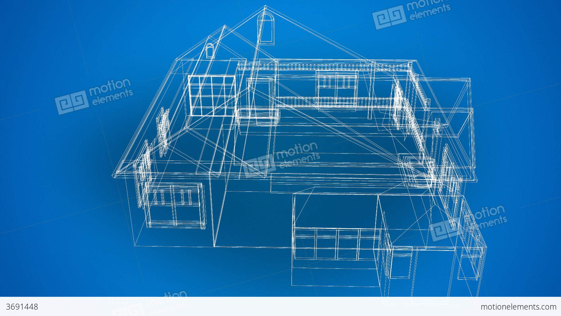 3d blueprints of a house stock video footage 3691448 for 3d house blueprints
