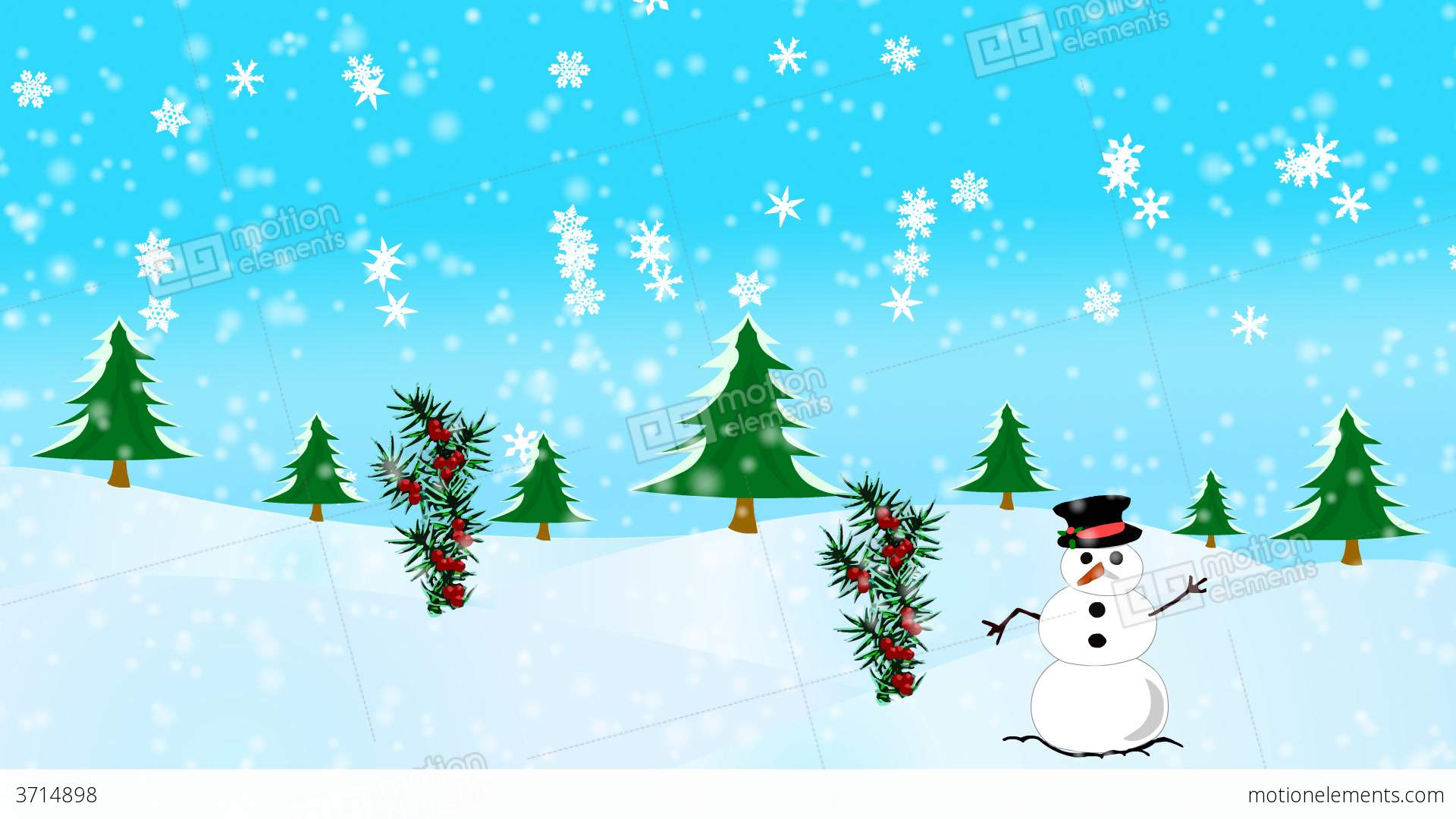 Happy Christmas Scene Stock Animation | 3714898
