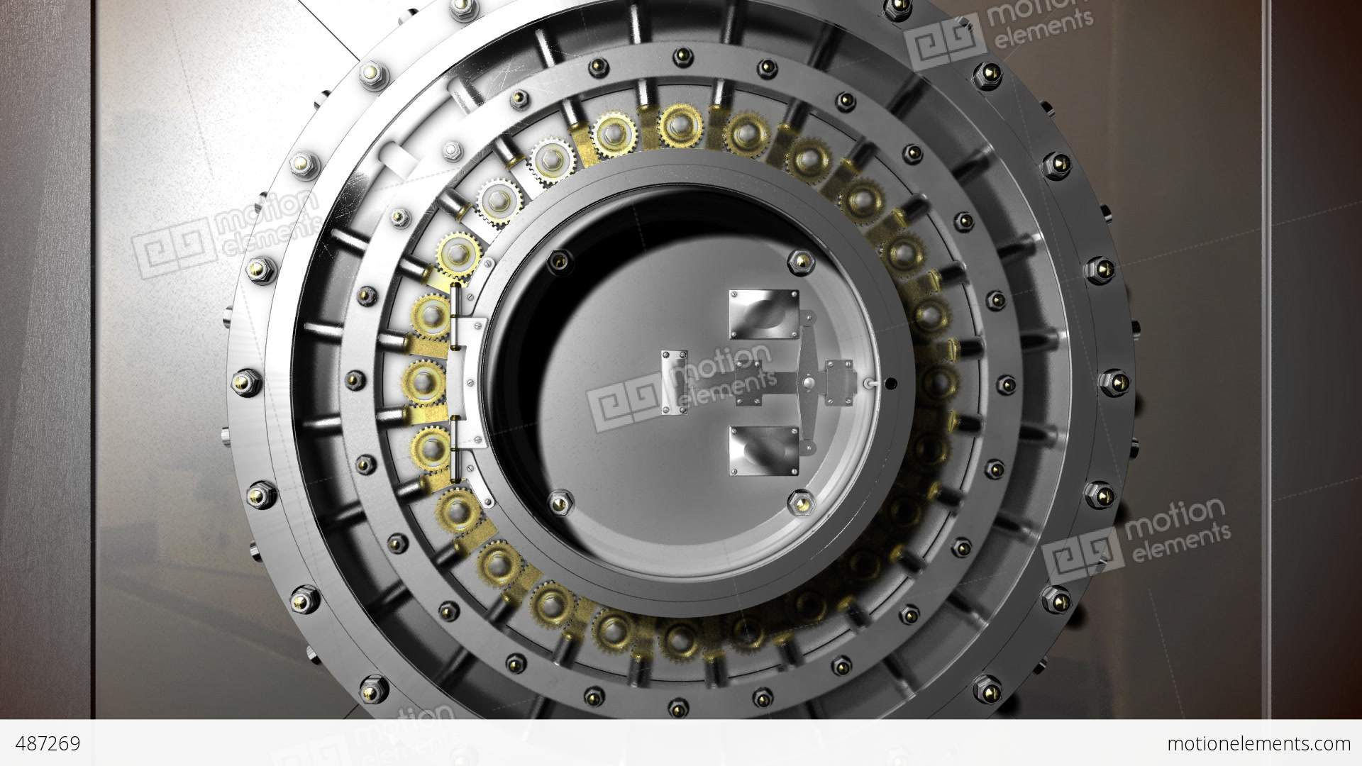 Vault Door Open Stock Animation