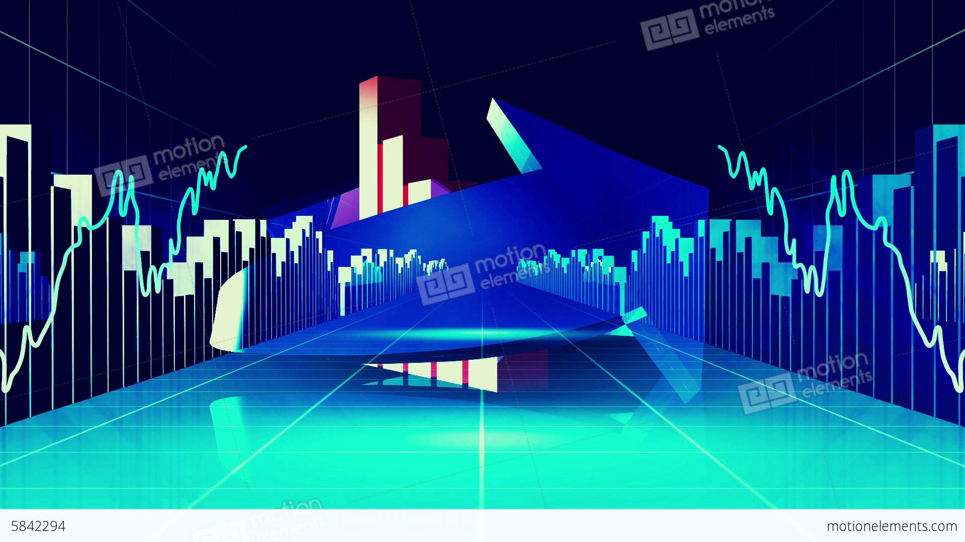 blue finance and business concept stock animation | 5842294