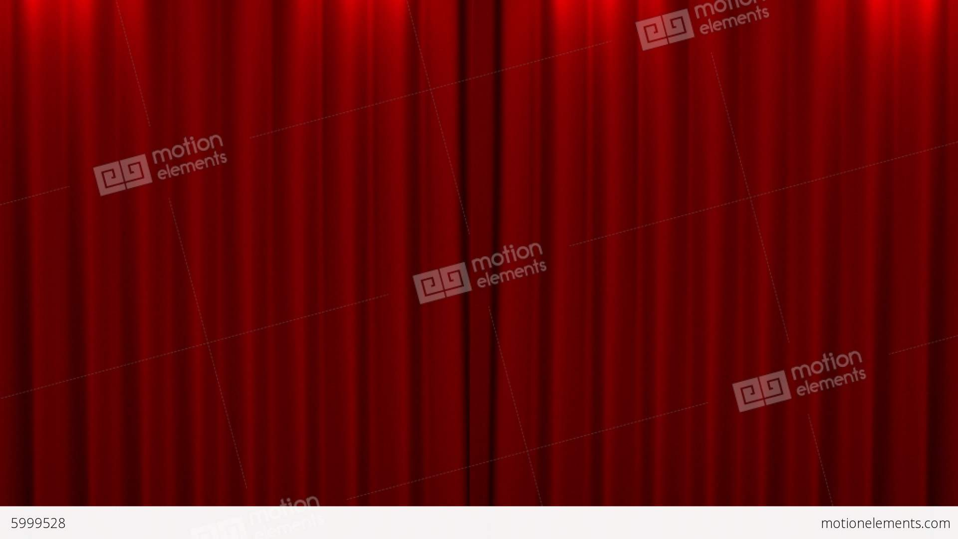 Opening and closing red curtain stock animation royalty free stock - Red Curtain With Spotlight Opening Scene Stock Video Footage