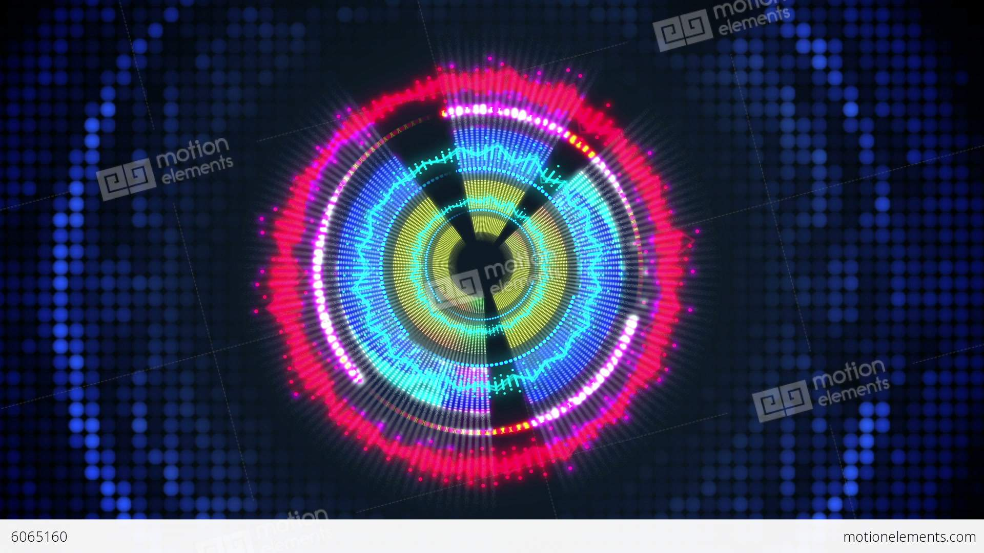 Digital Heart Sound Spectrum Vj Loop Background