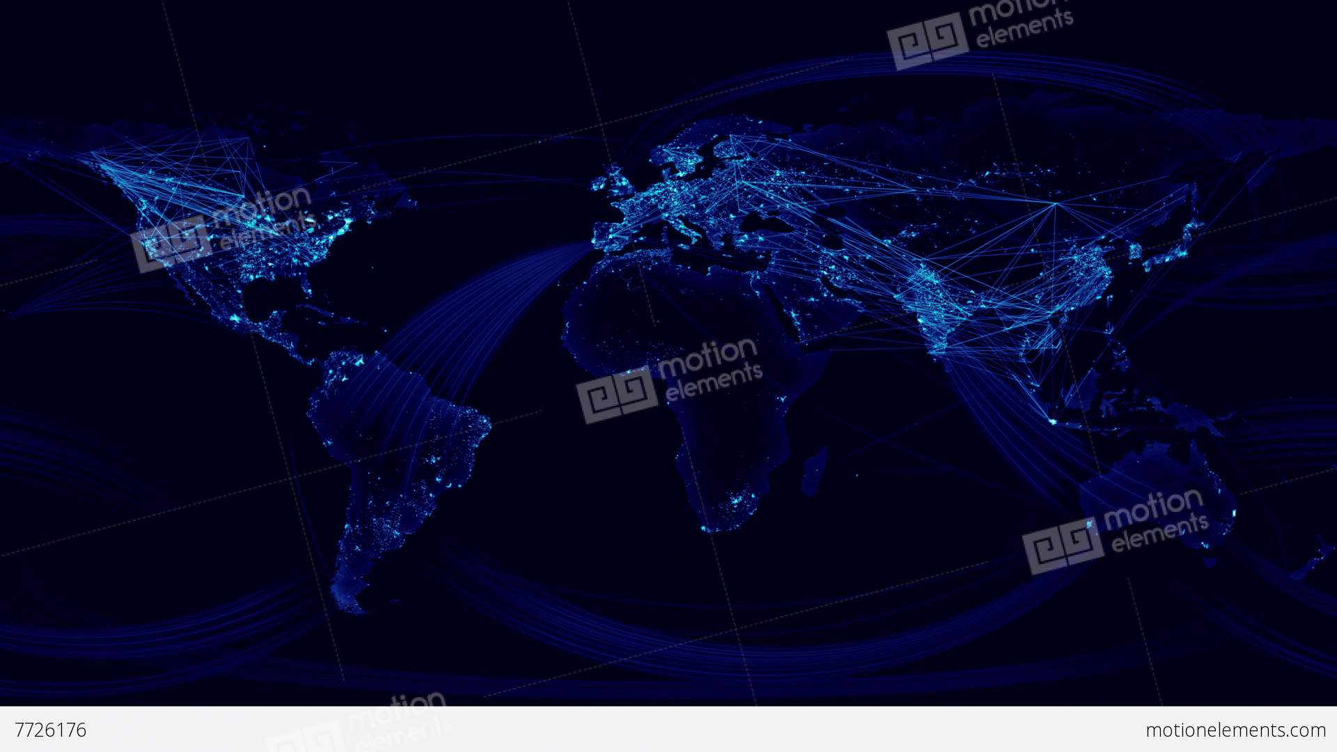 Network lines lighting up world map blue version animacin 7726176 network lines lighting up world map blue version videos de stock gumiabroncs Choice Image