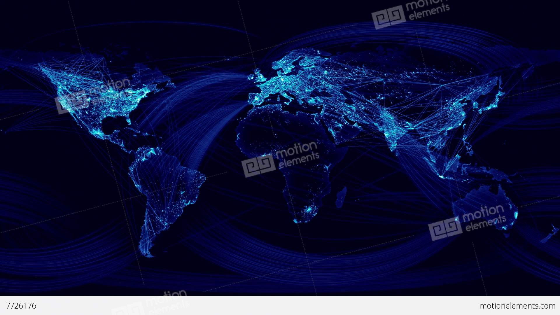 Network lines lighting up world map blue version stock animation network lines lighting up world map blue version stock video footage gumiabroncs Images