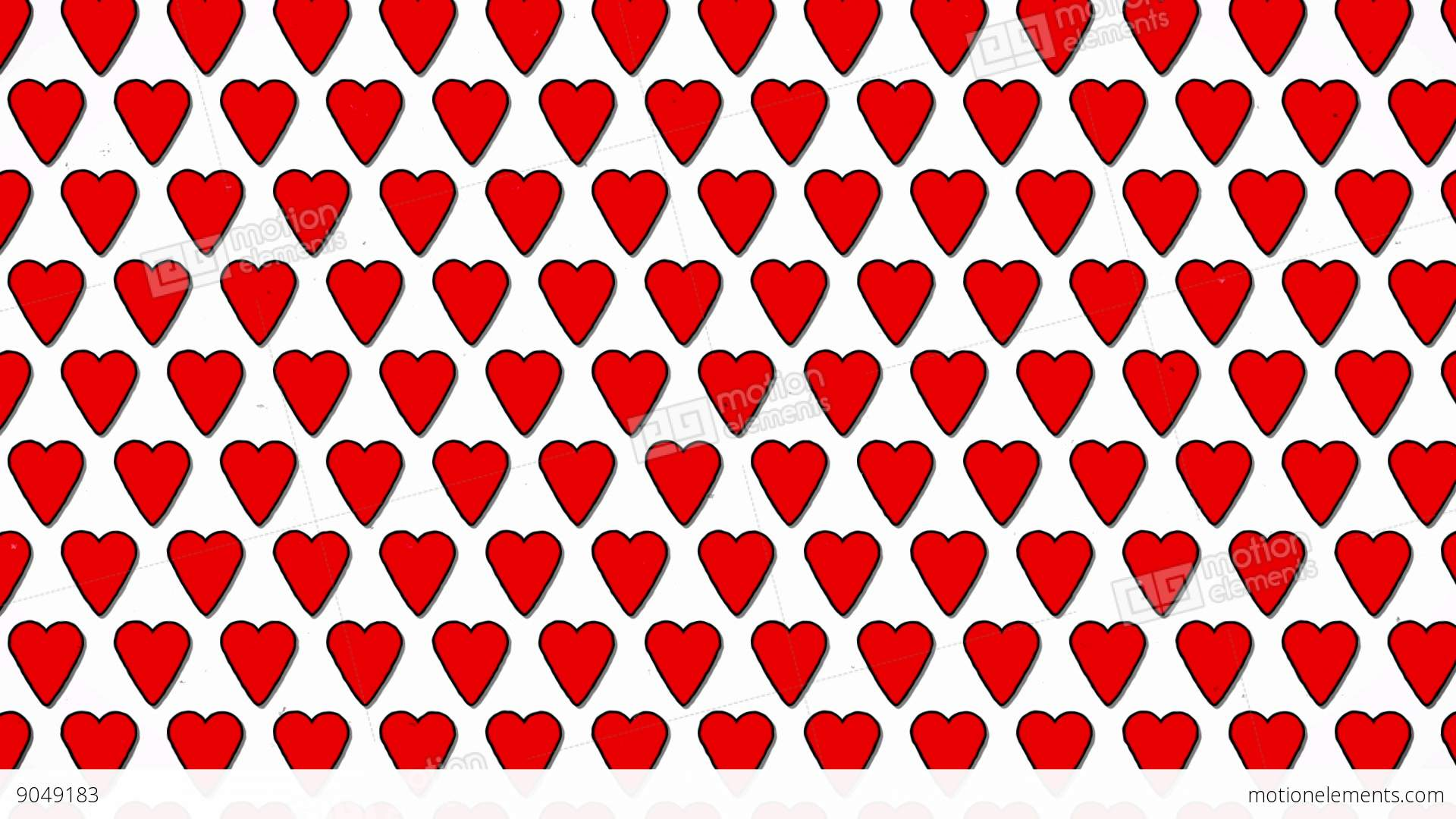 Red hearts love valentine animated shape background stock - Cartoon valentine wallpaper ...