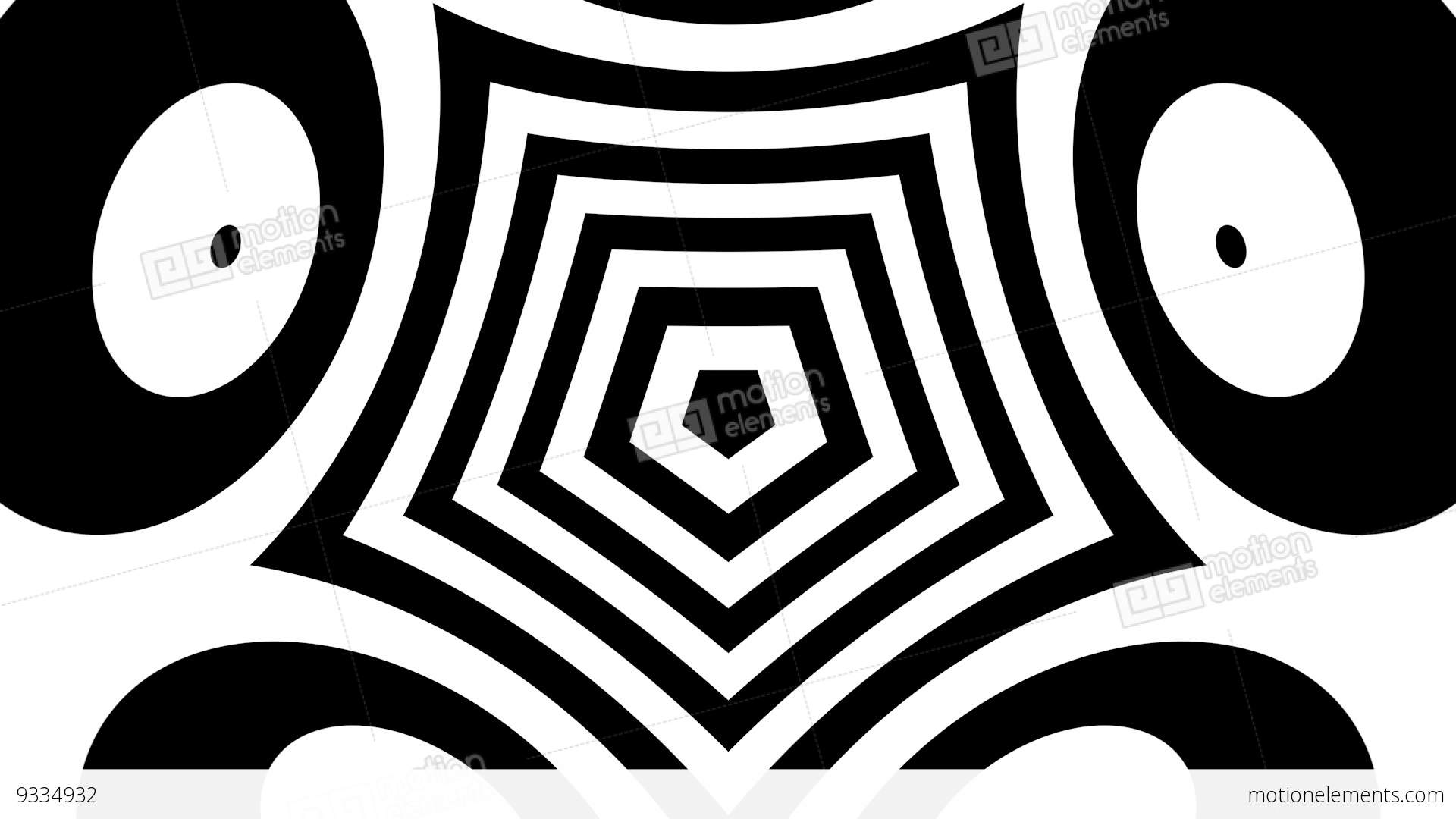 Trippy Geometric Black And White Shapes Zooming And Morphing Stock ... for Geometric Shapes Design Black And White  174mzq