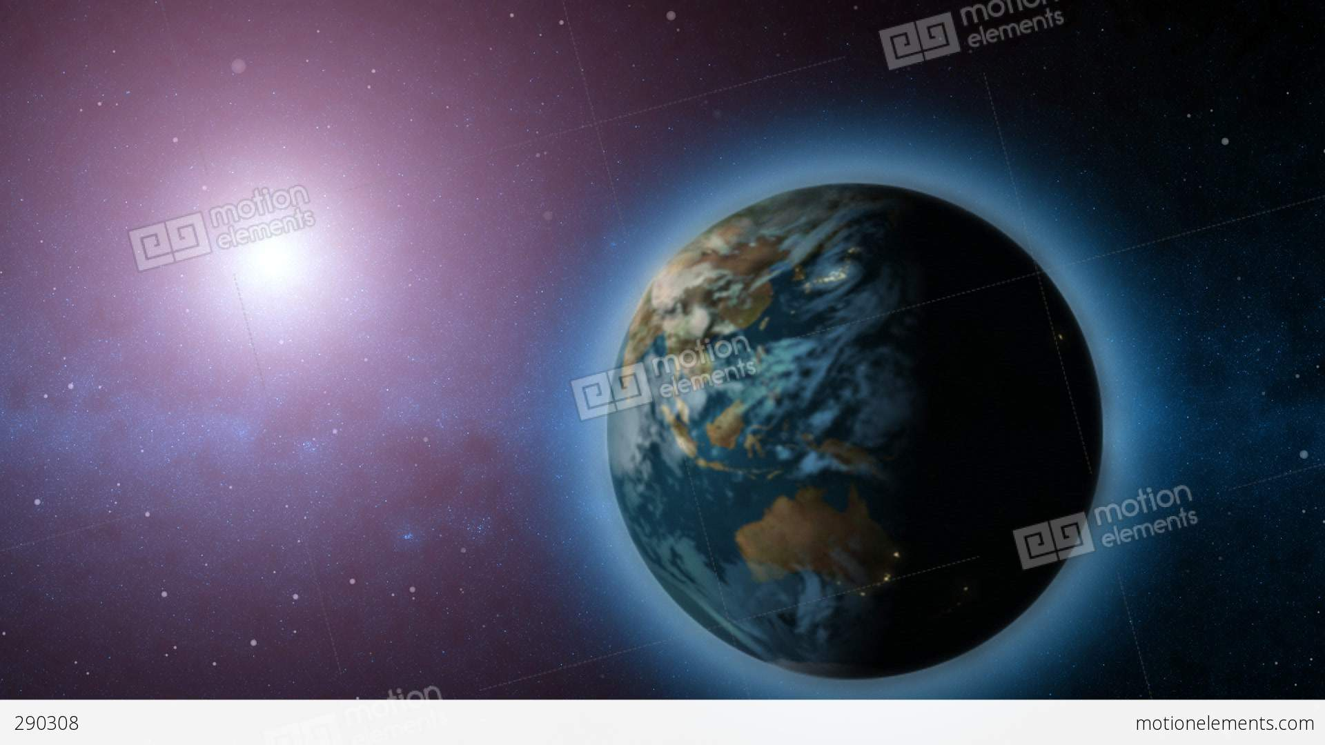 rotating earth with sun in background stock animation 290308 Spinning Earth Clip Art Spinning Earth Clip Art