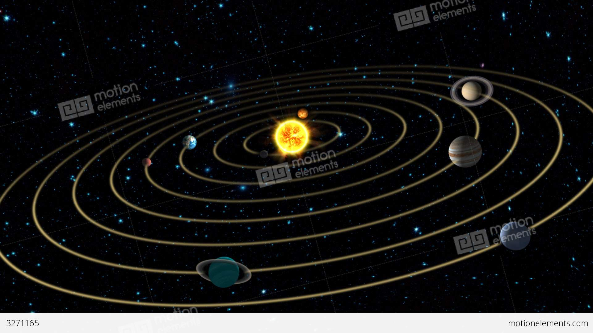 Earth in the Solar System Stock Animation