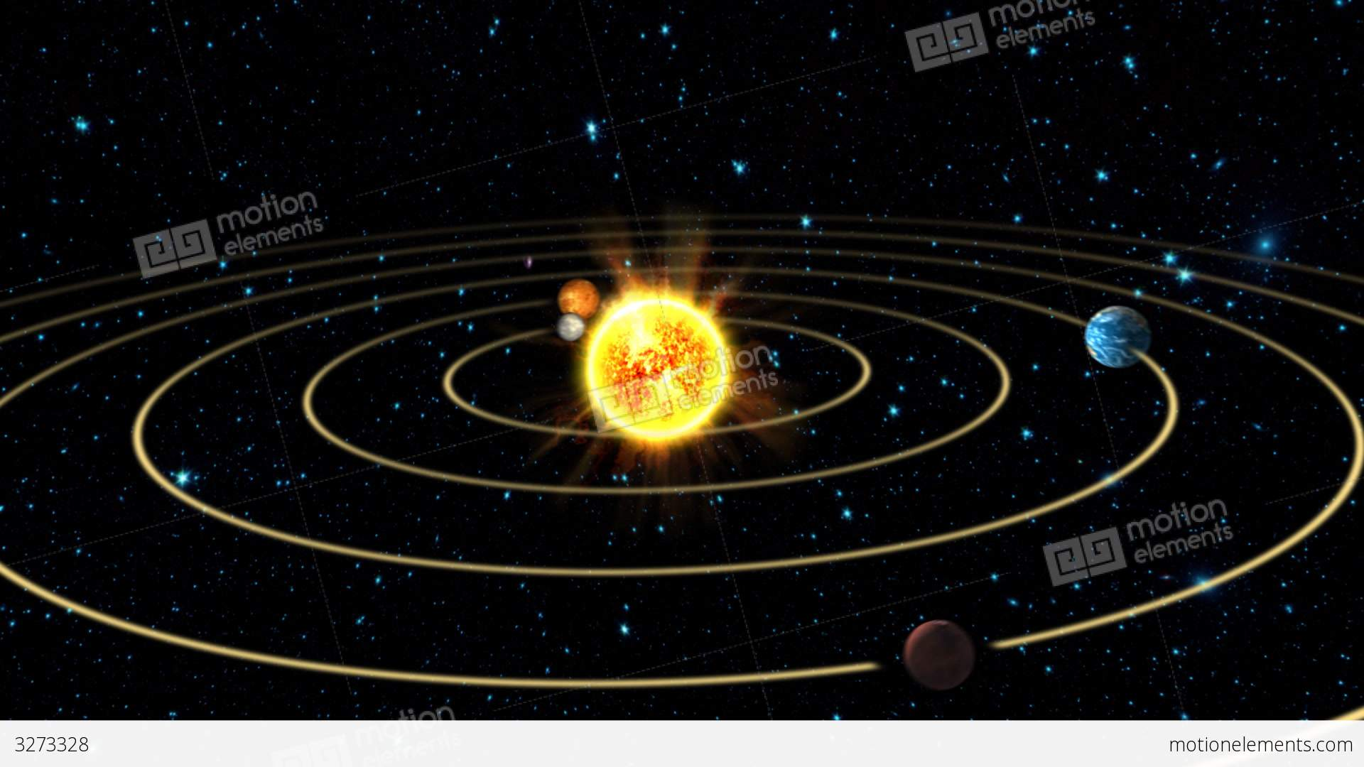 Solar System Animation			 Stock Animation