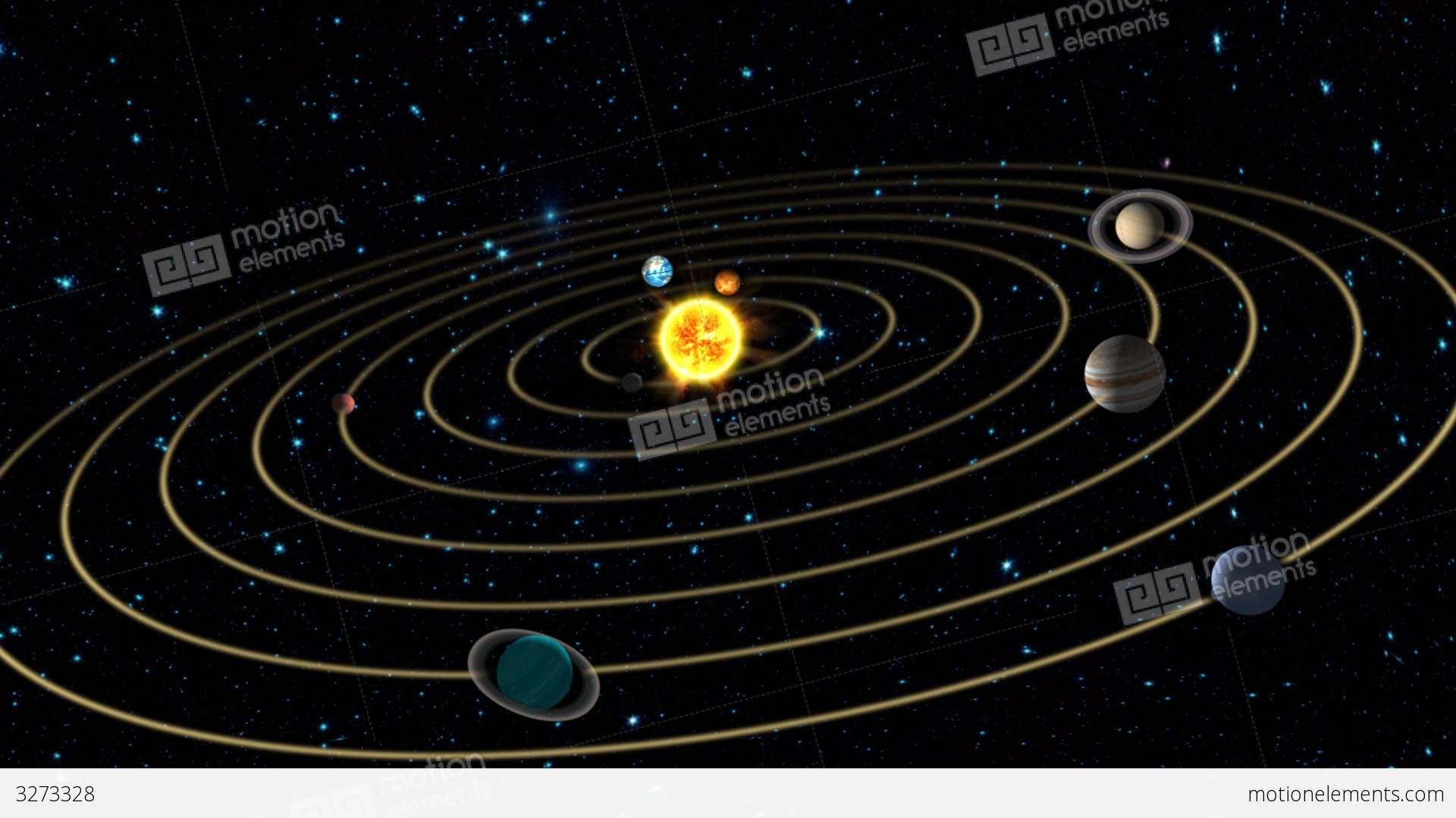 Solar System Animation Stock Animation | 3273328
