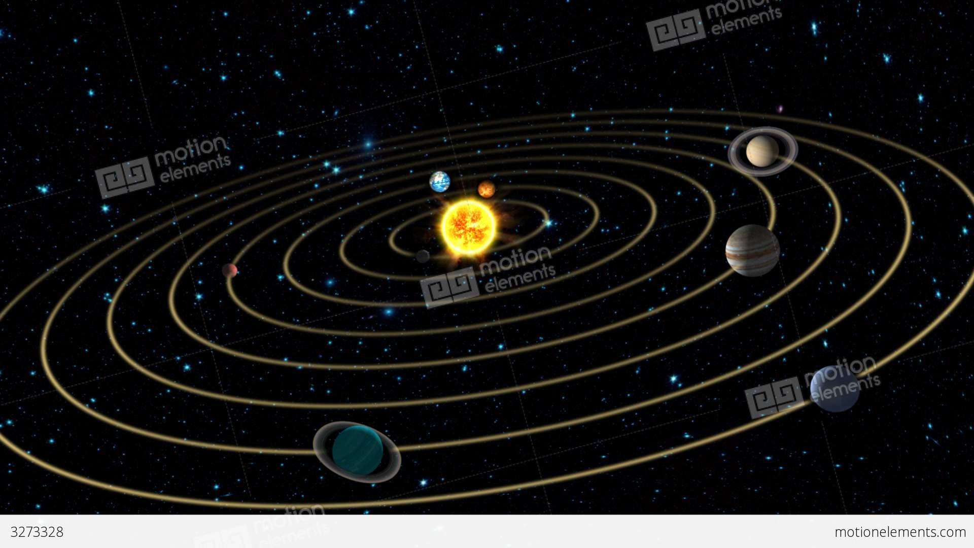 Solar System Animation Stock Animation | 3273328