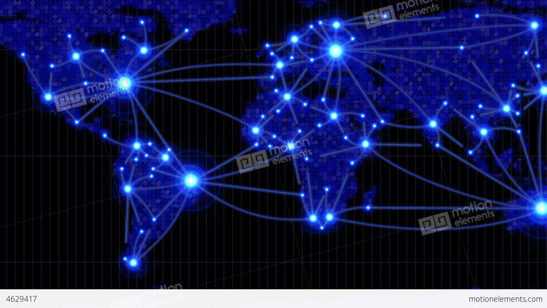 Lines showing countries connecting on world map stock animation lines showing countries connecting on world map stock video footage gumiabroncs Gallery