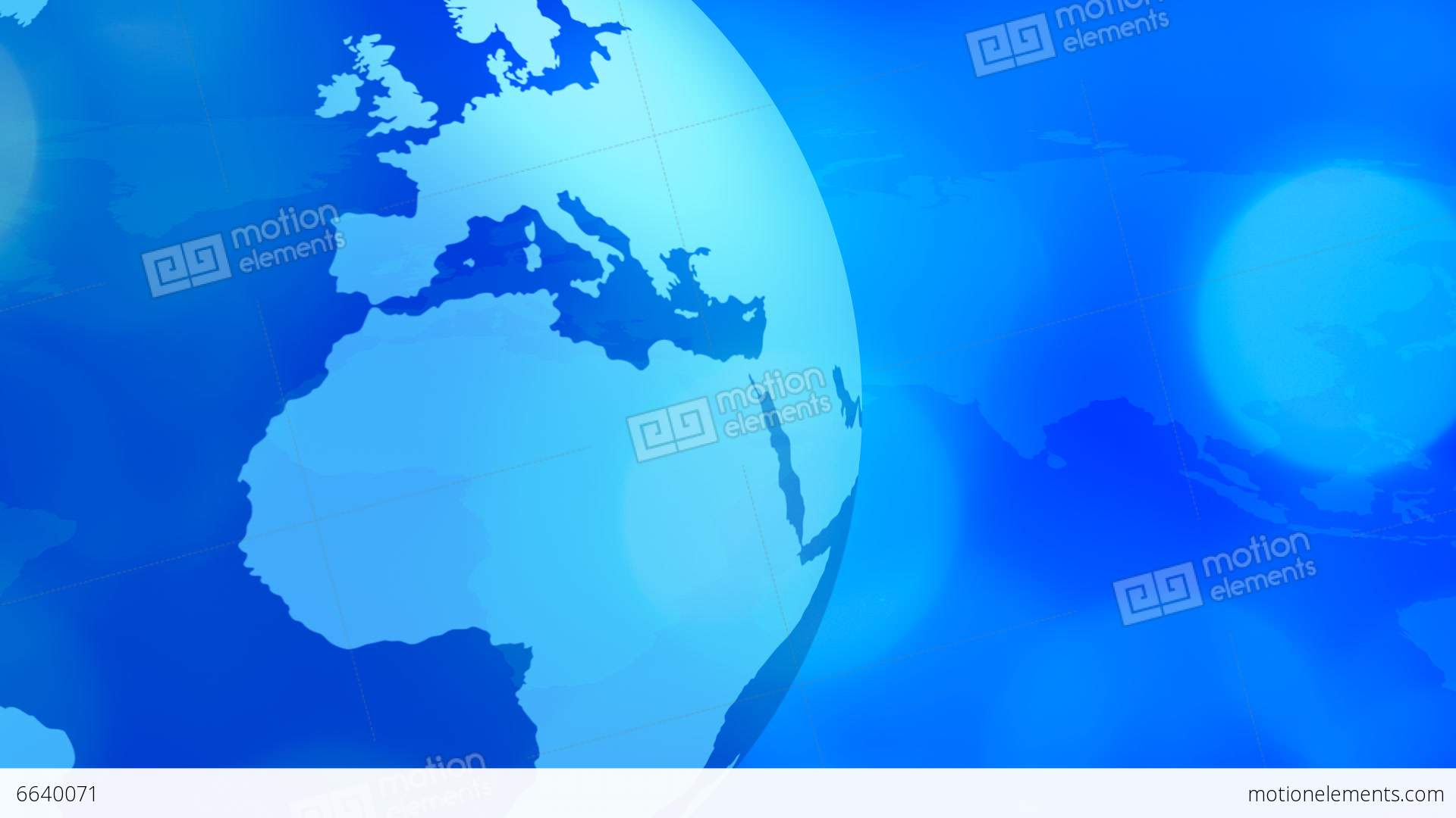 Rotating Planet Earth And World Map Global Busines Stock Video Footage