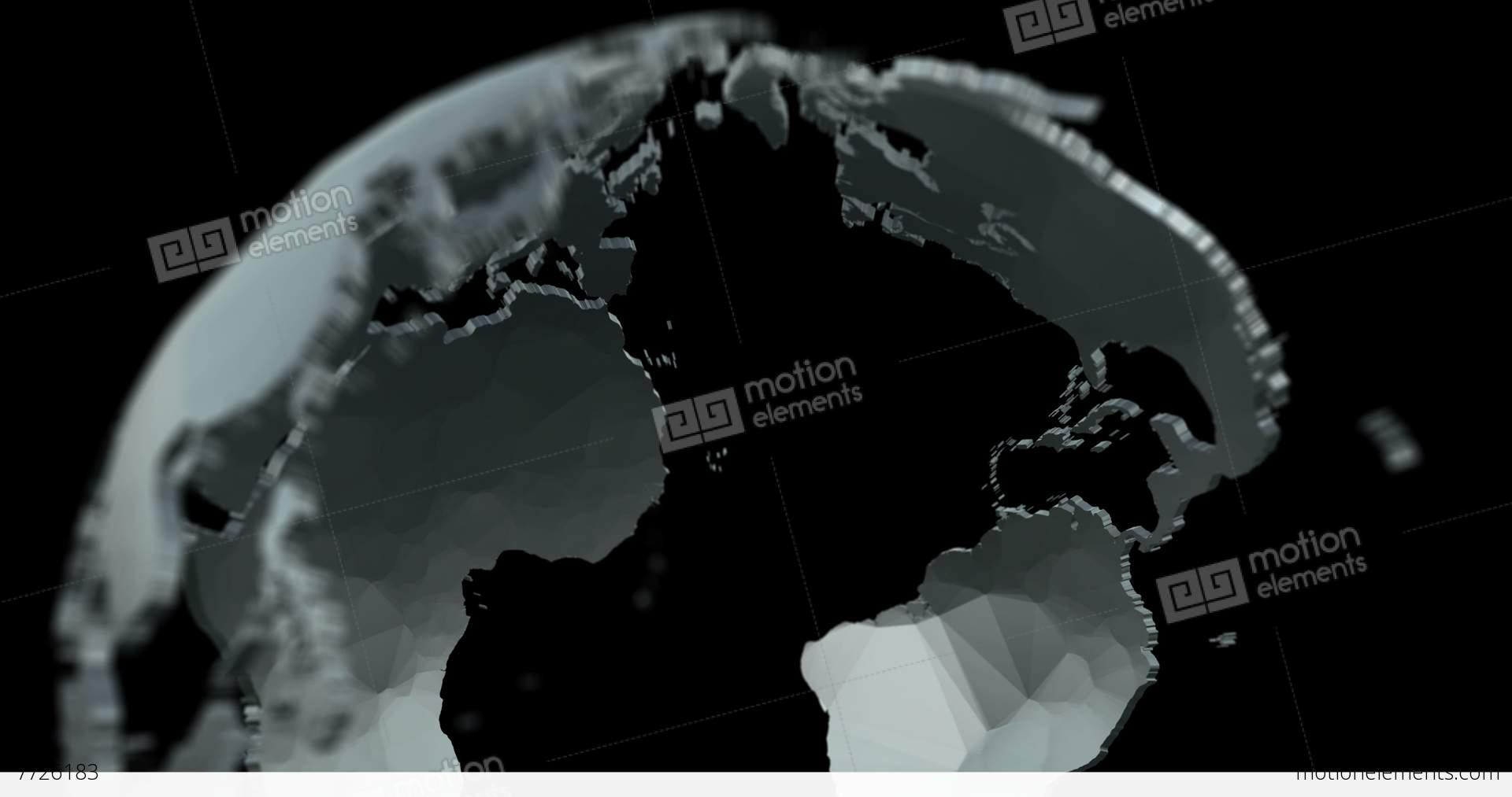 4k 3d globe matte alpha fill v3 stock animation 7726183