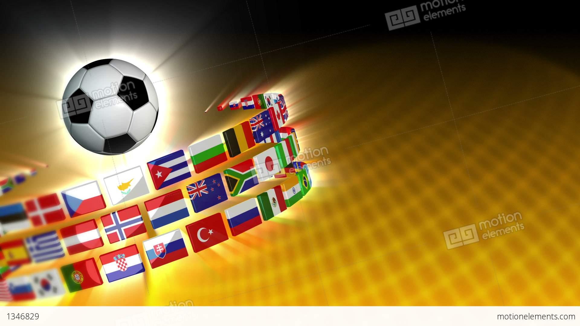 Soccer International Flags Sport Background 56 (HD) Stock ...