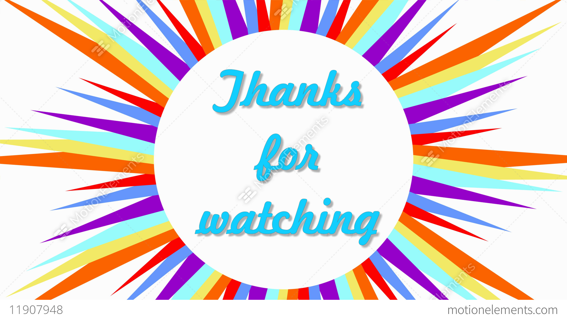 Thanks For Watching, Outro Video With Text In Multicolored Frame ...