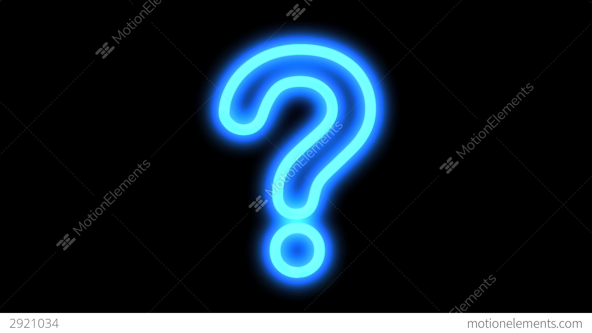 Blue Question Mark Stock Animation 2921034