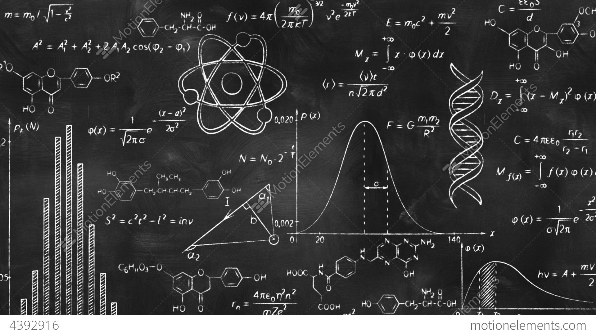 Free House Plan Software Writing Scientific Formulas On Black Chalkboard Stock