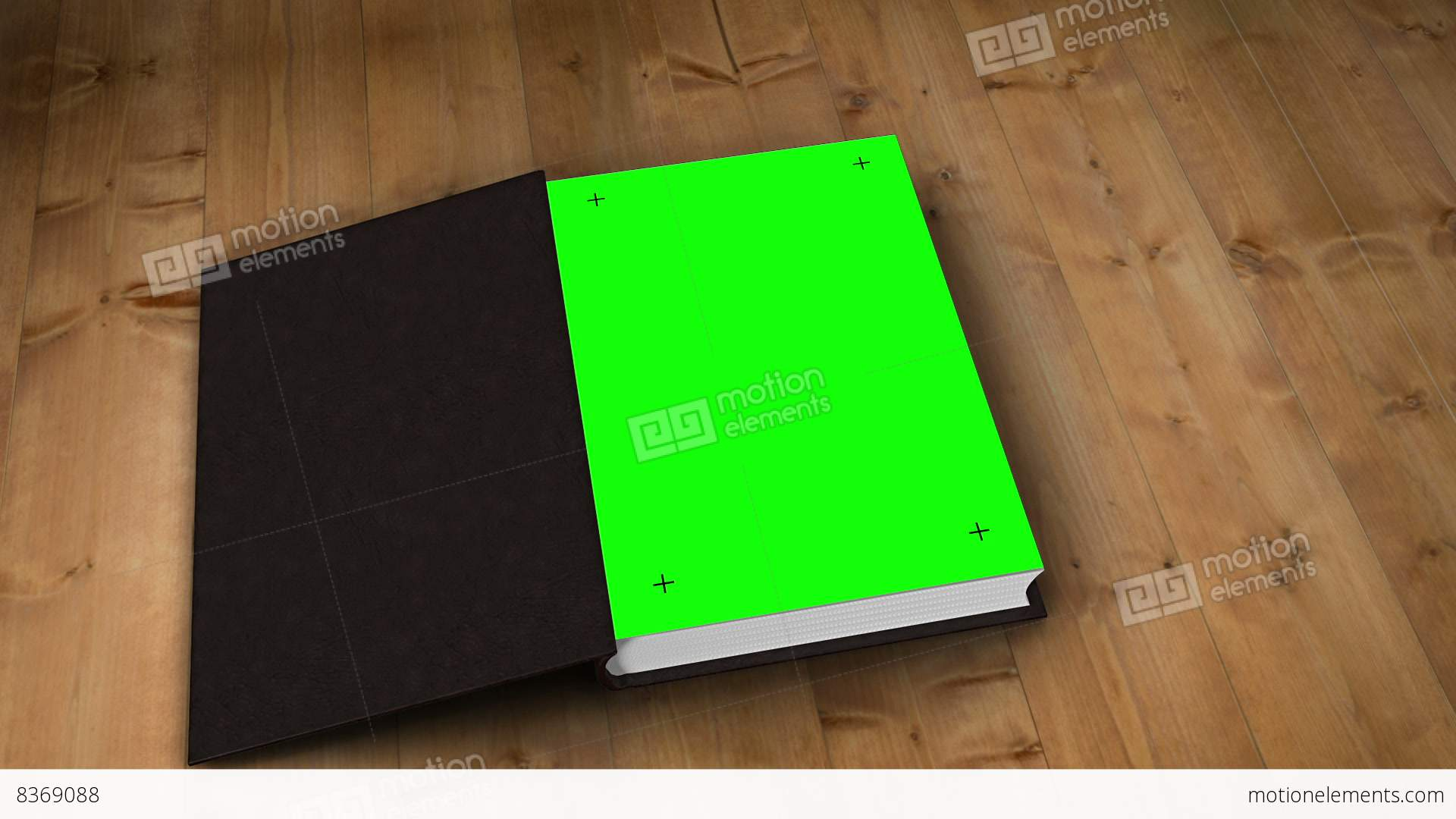 Book Opening To Green Screen Stock Animation   8369088