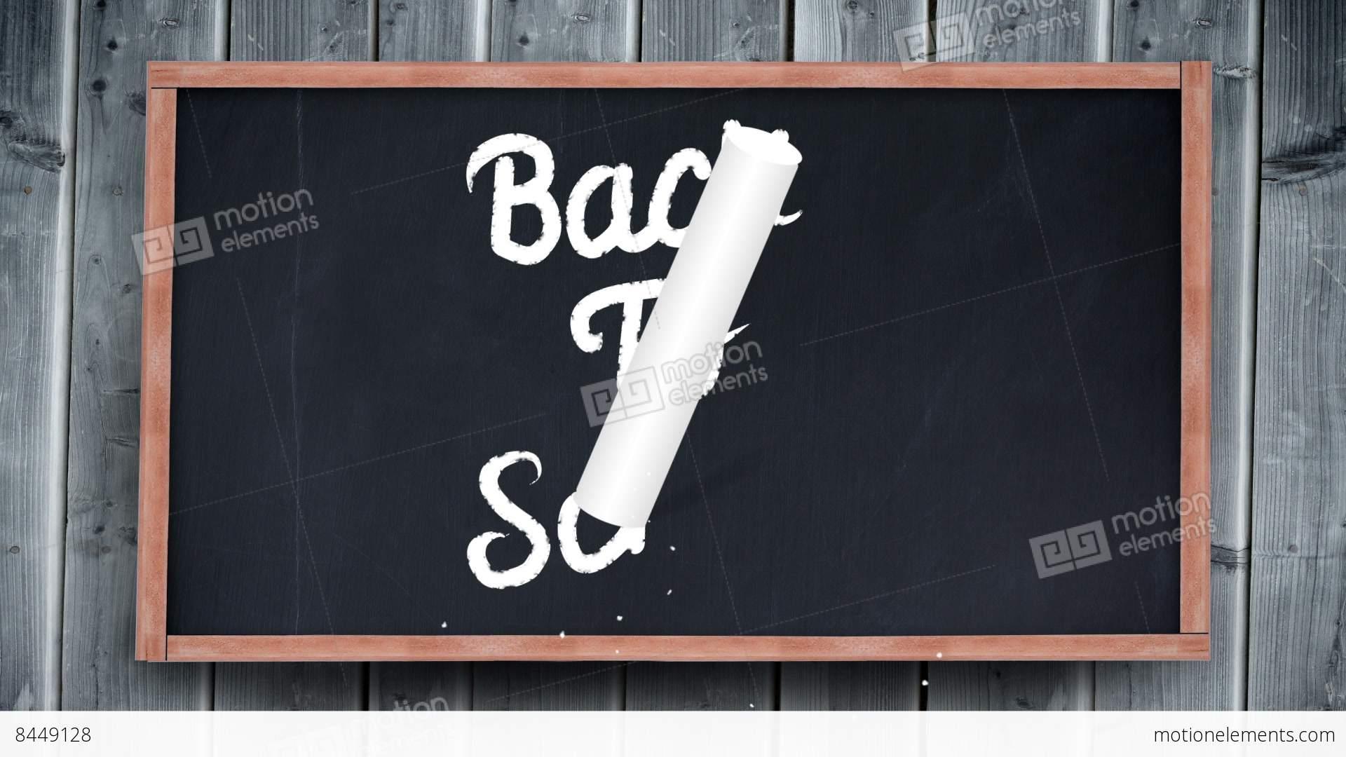 back to school writing on chalkboard stock animation  8449128