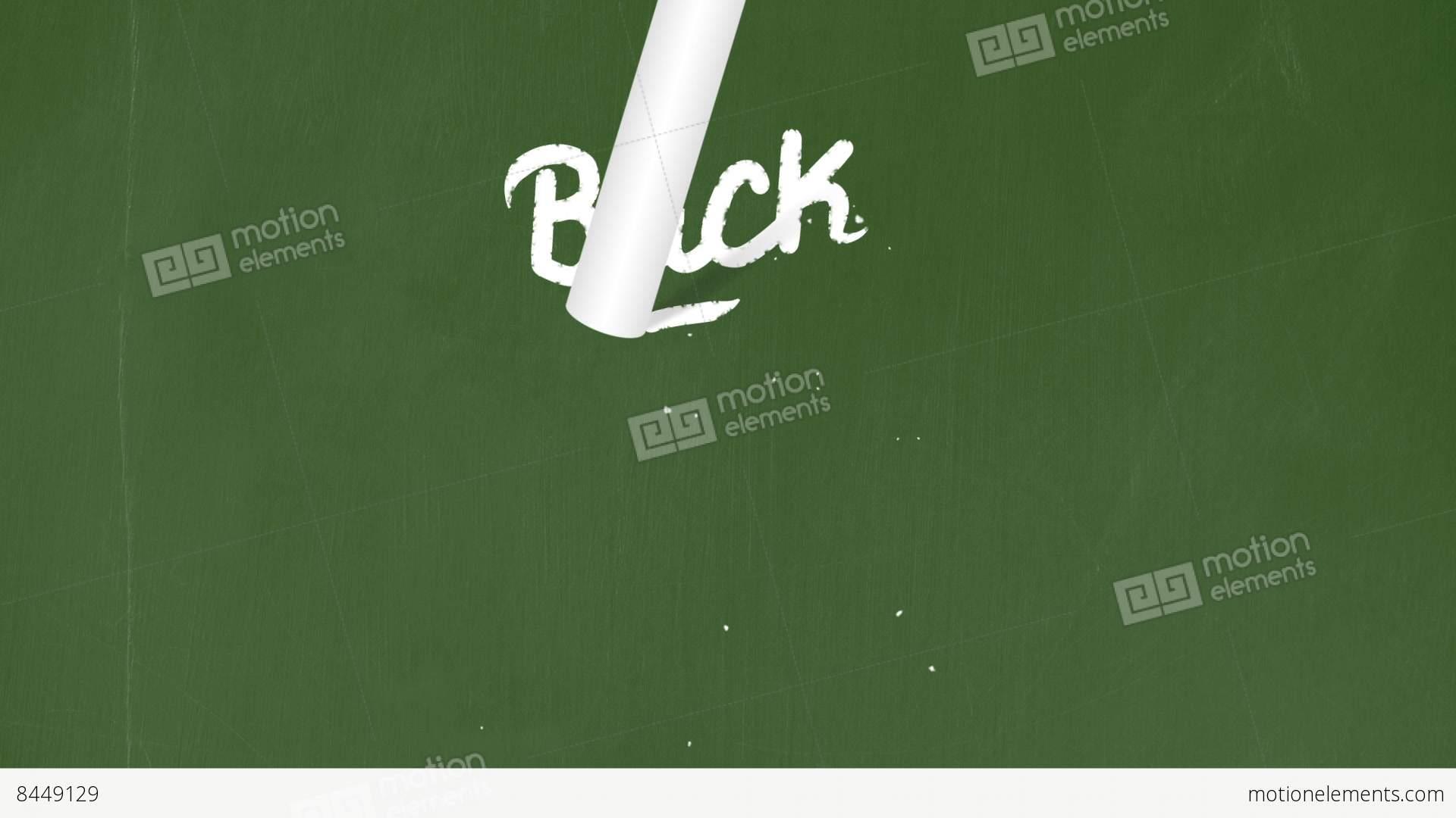 chalkboard writing animation code