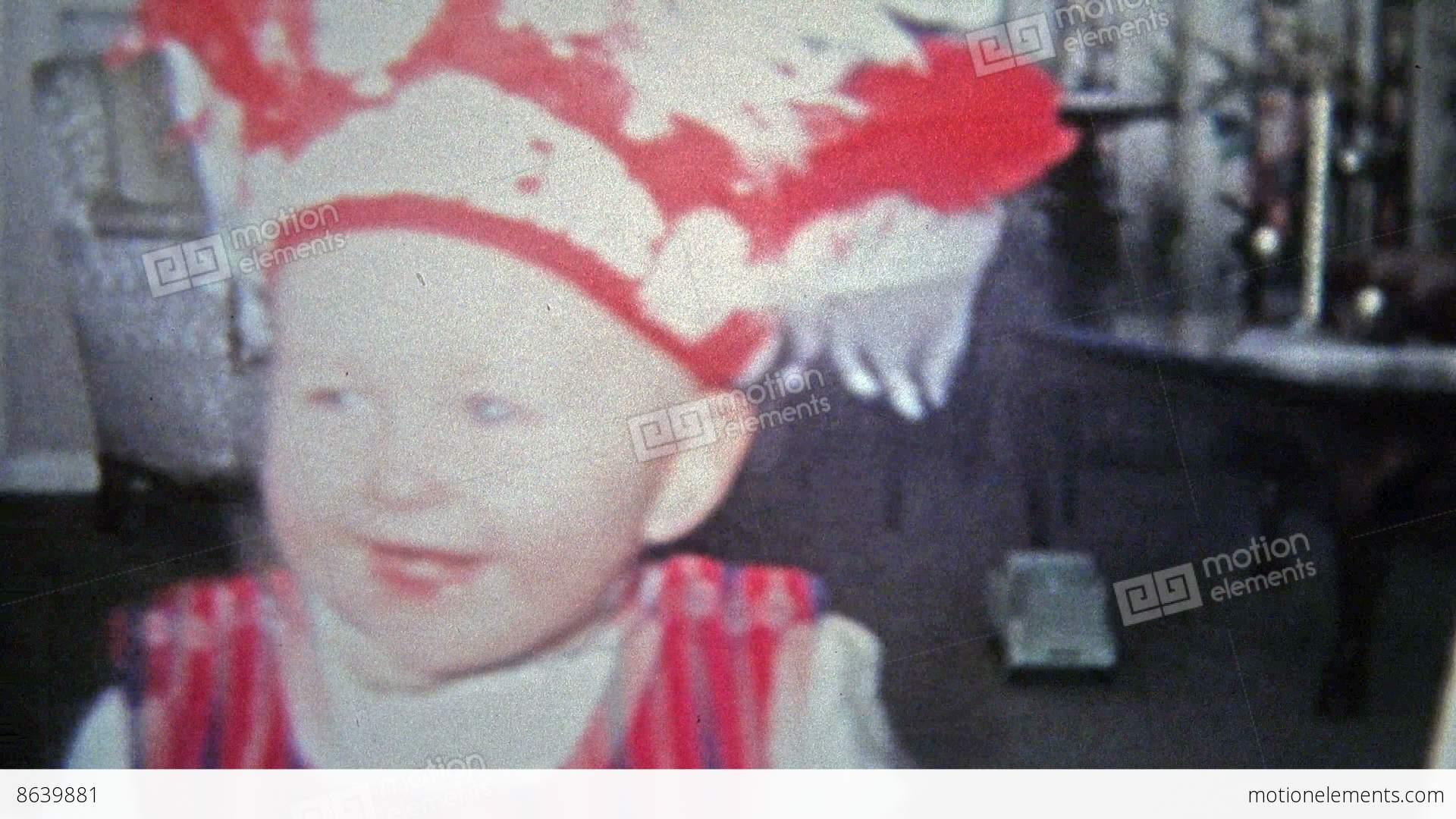 toledo, ohio 1968: halloween kid raiders native american headdress