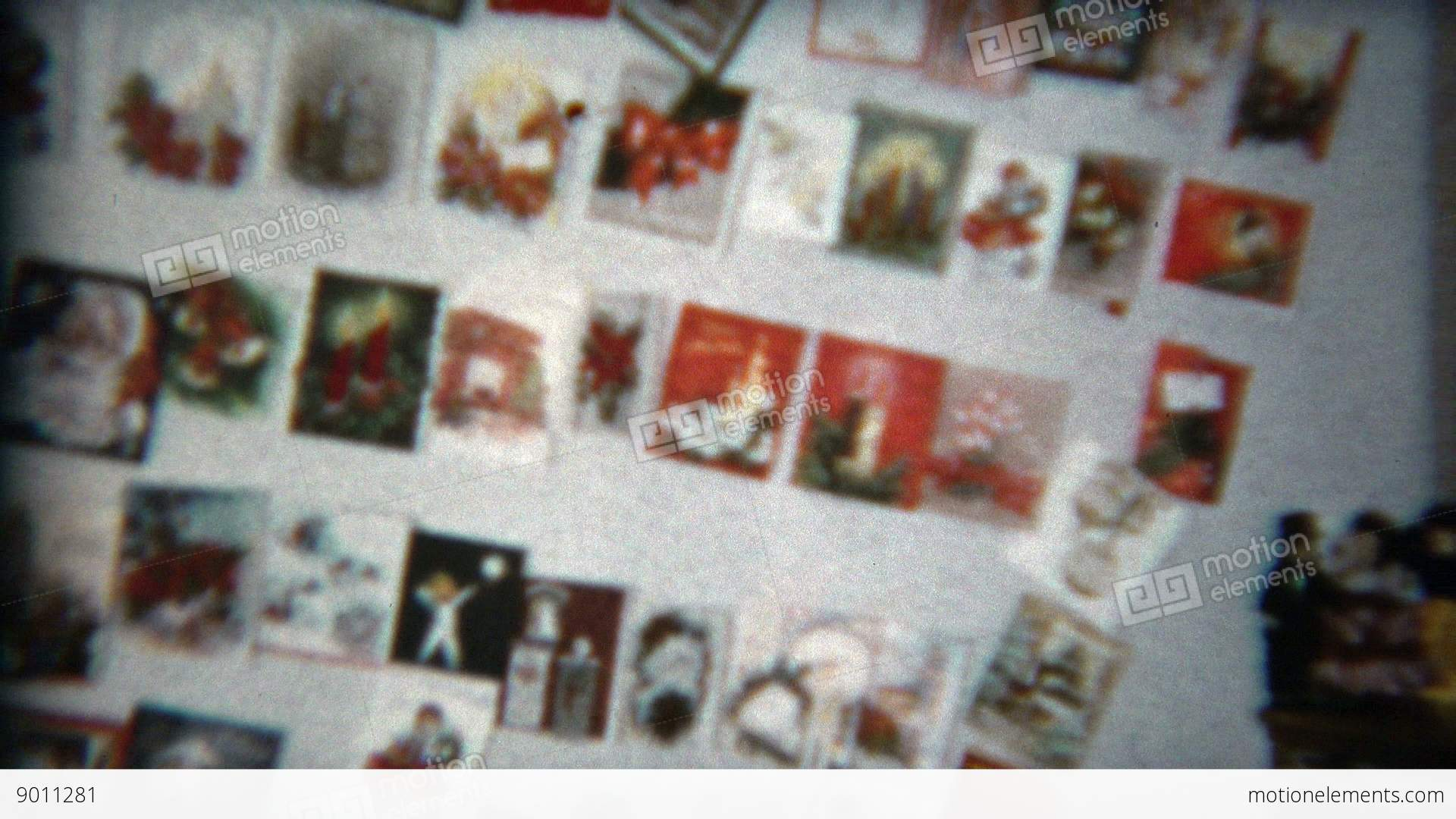 1960: Wall Of Christmas Cards Collected From The Year\'s Batch Of ...