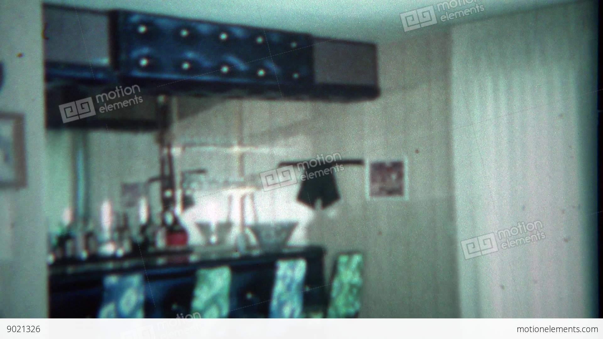 1963 Vintage Home Wet Bar Bat Setup Custom Built By Stock Video