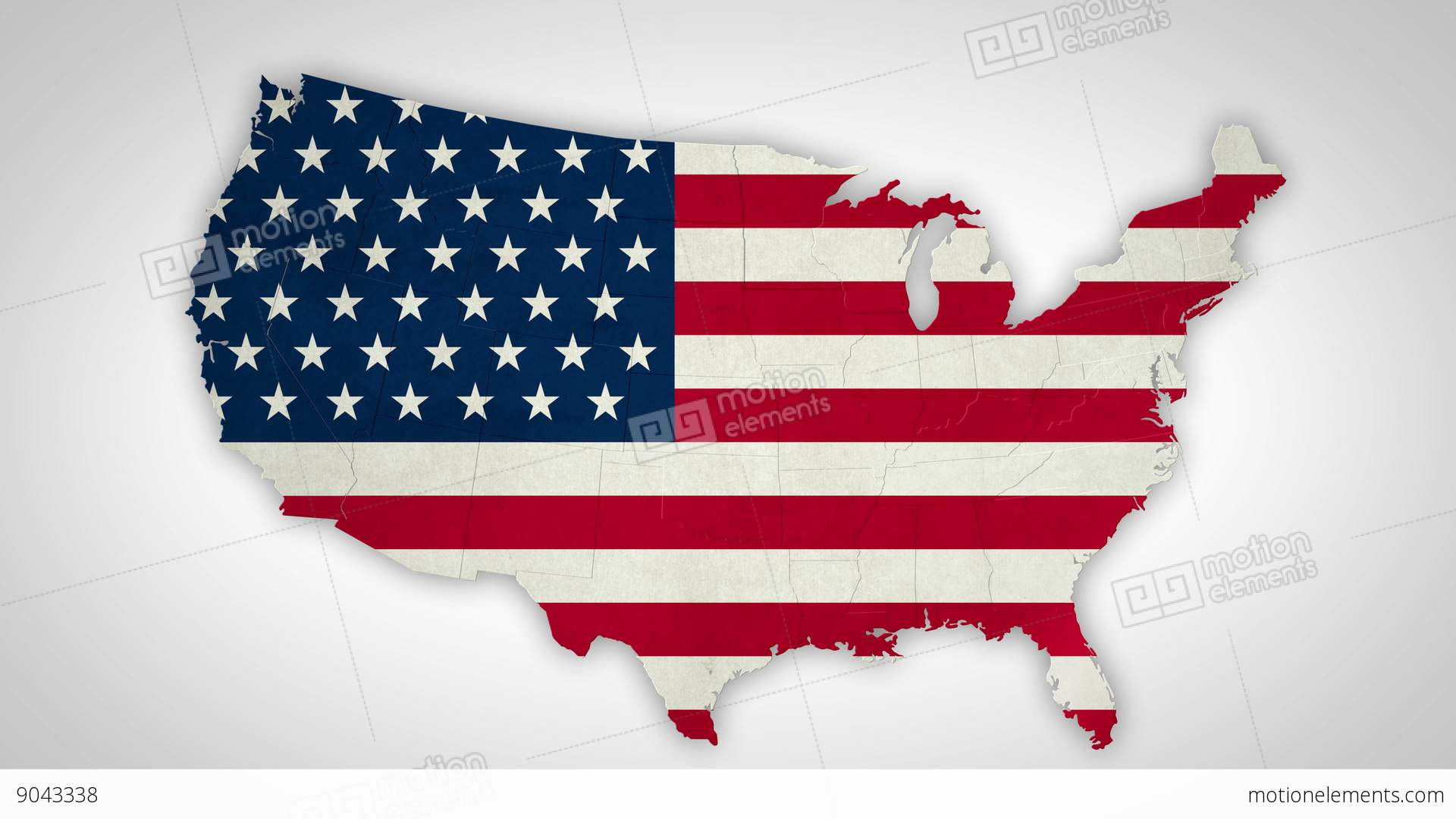 USA Map States Combine 4 K Stock Animation | 9043338